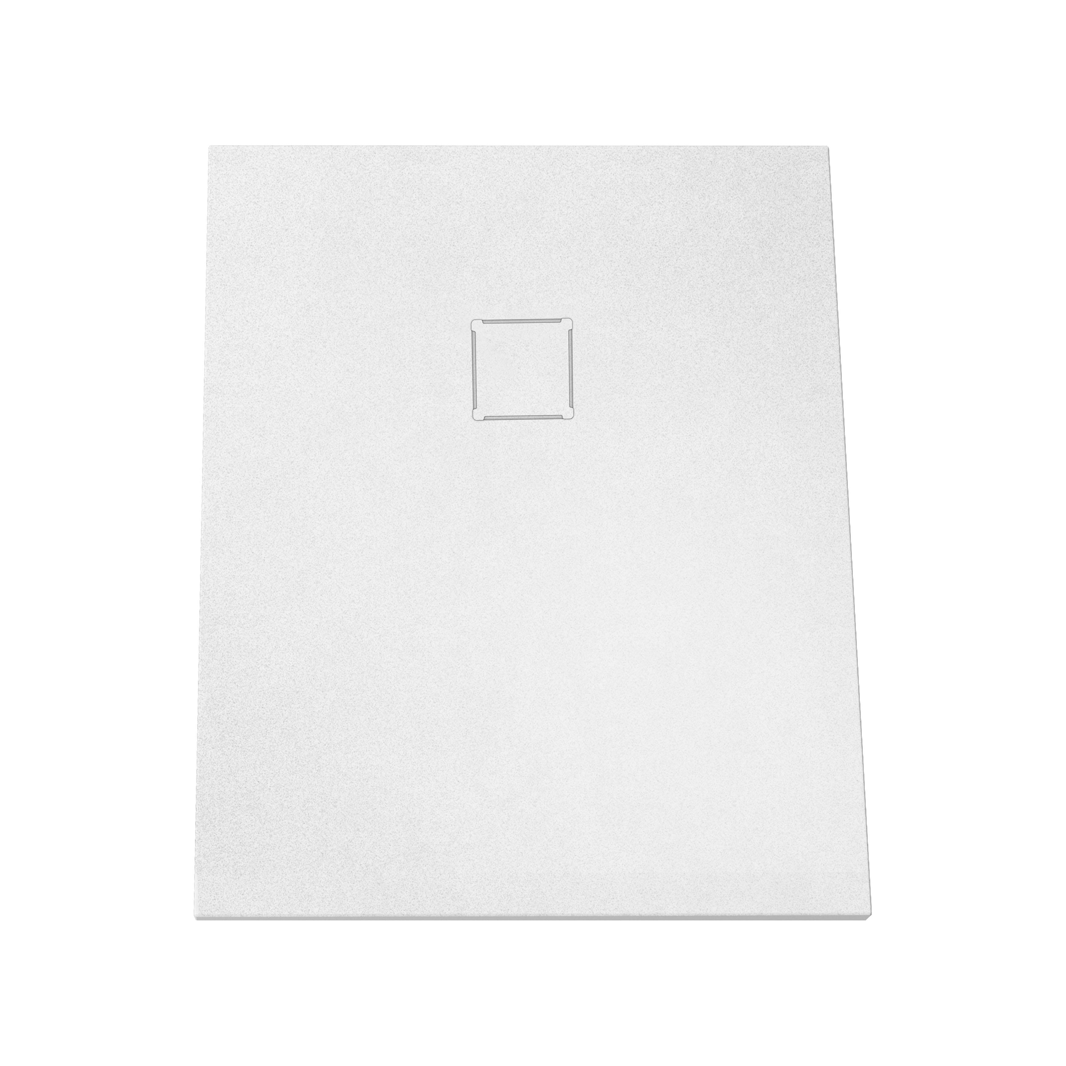 V-stone, receveur ultra plat en solid stone, 100  x  80 cm, blanc