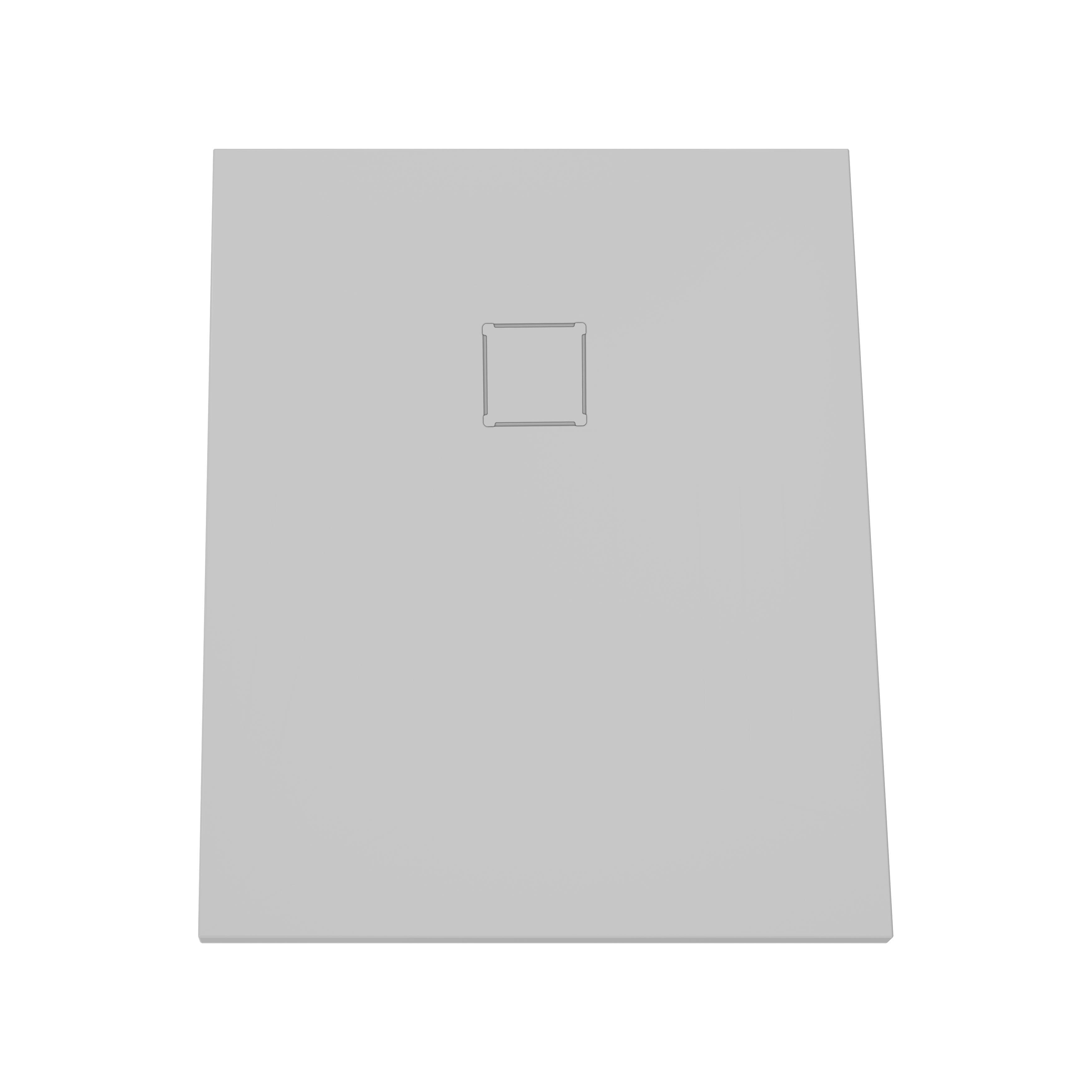 V-stone, receveur ultra plat en solid stone, 100  x  80 cm, gris