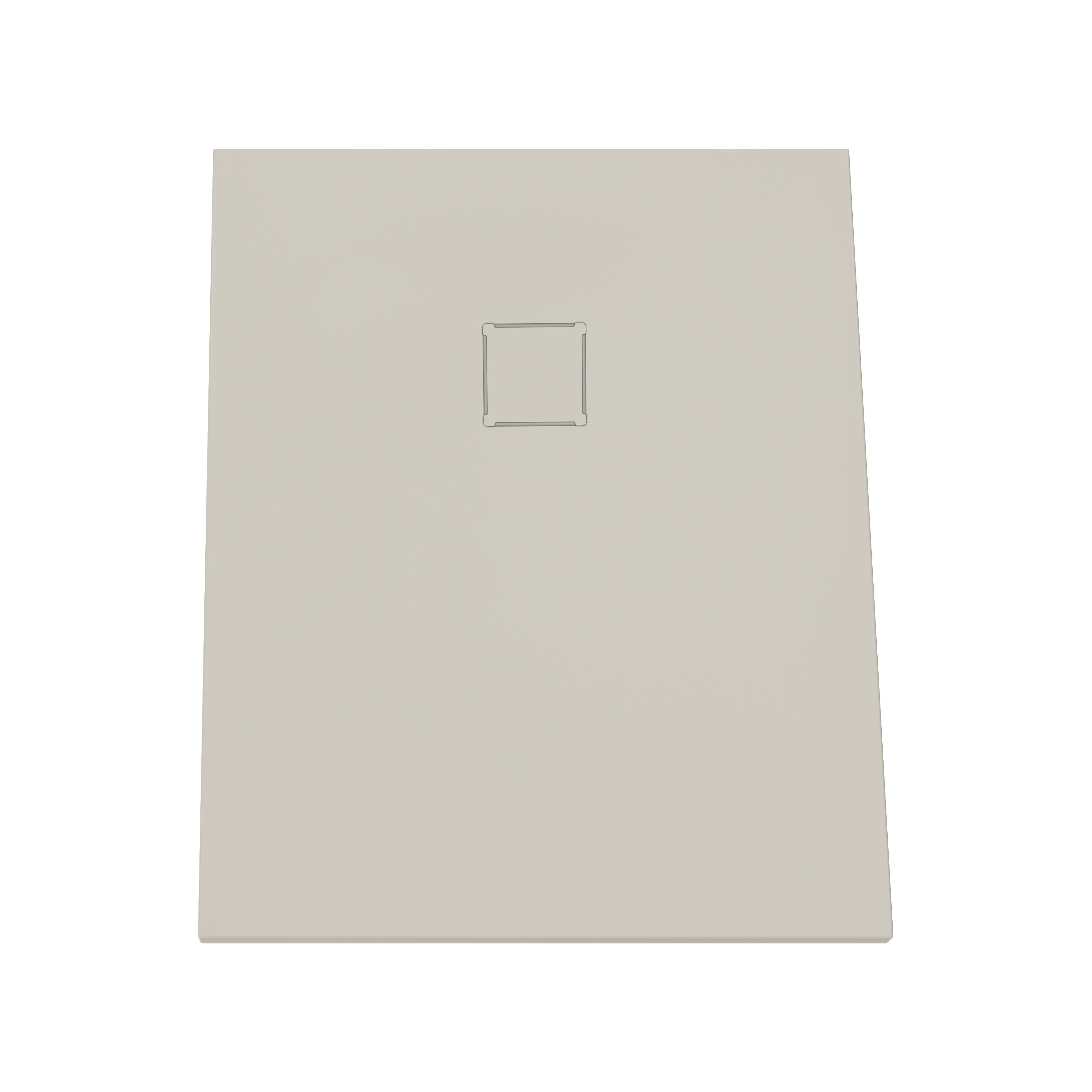 V-stone, receveur ultra plat en solid stone, 100  x  80 cm, taupe