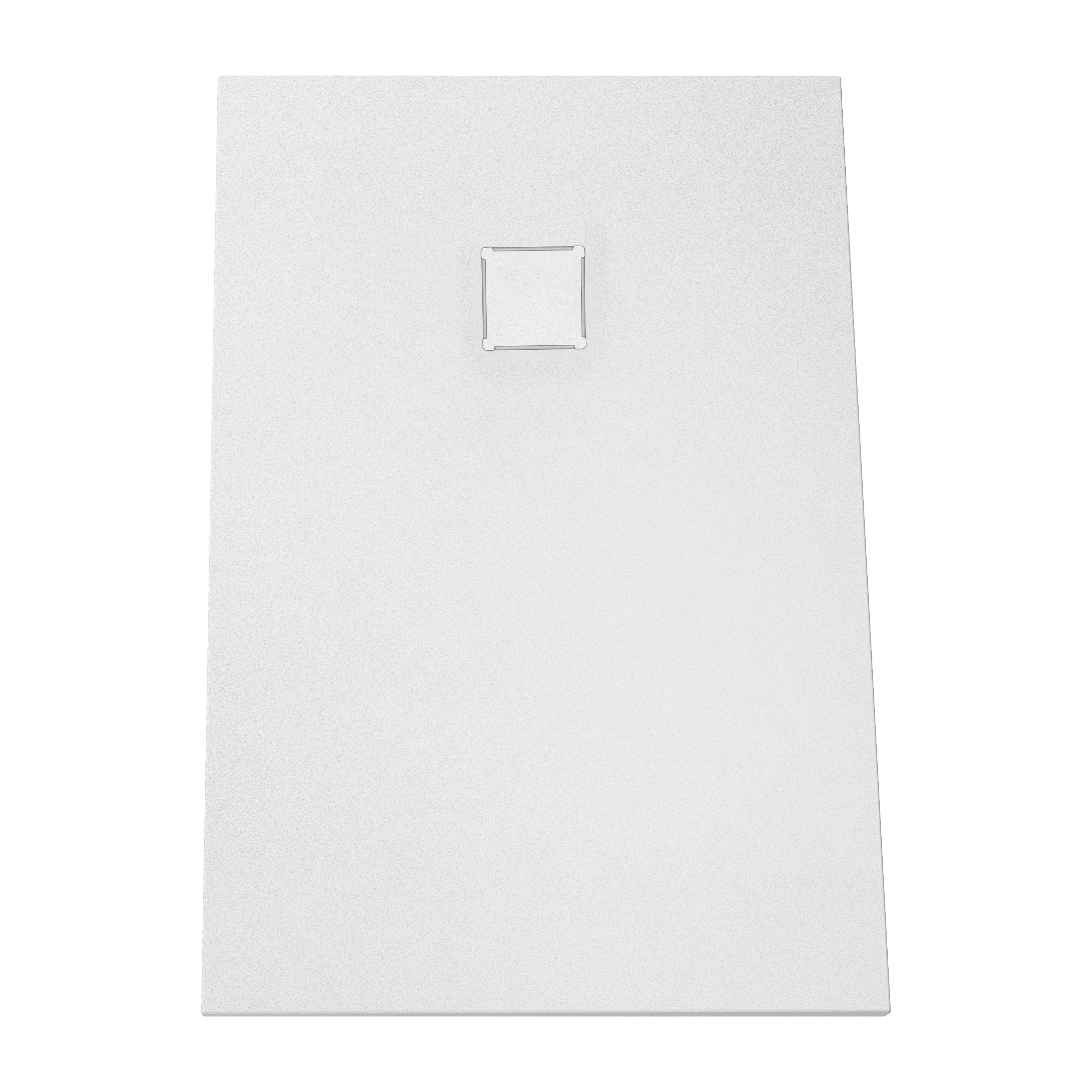 V-stone, receveur ultra plat en solid stone, 120  x  80 cm blanc