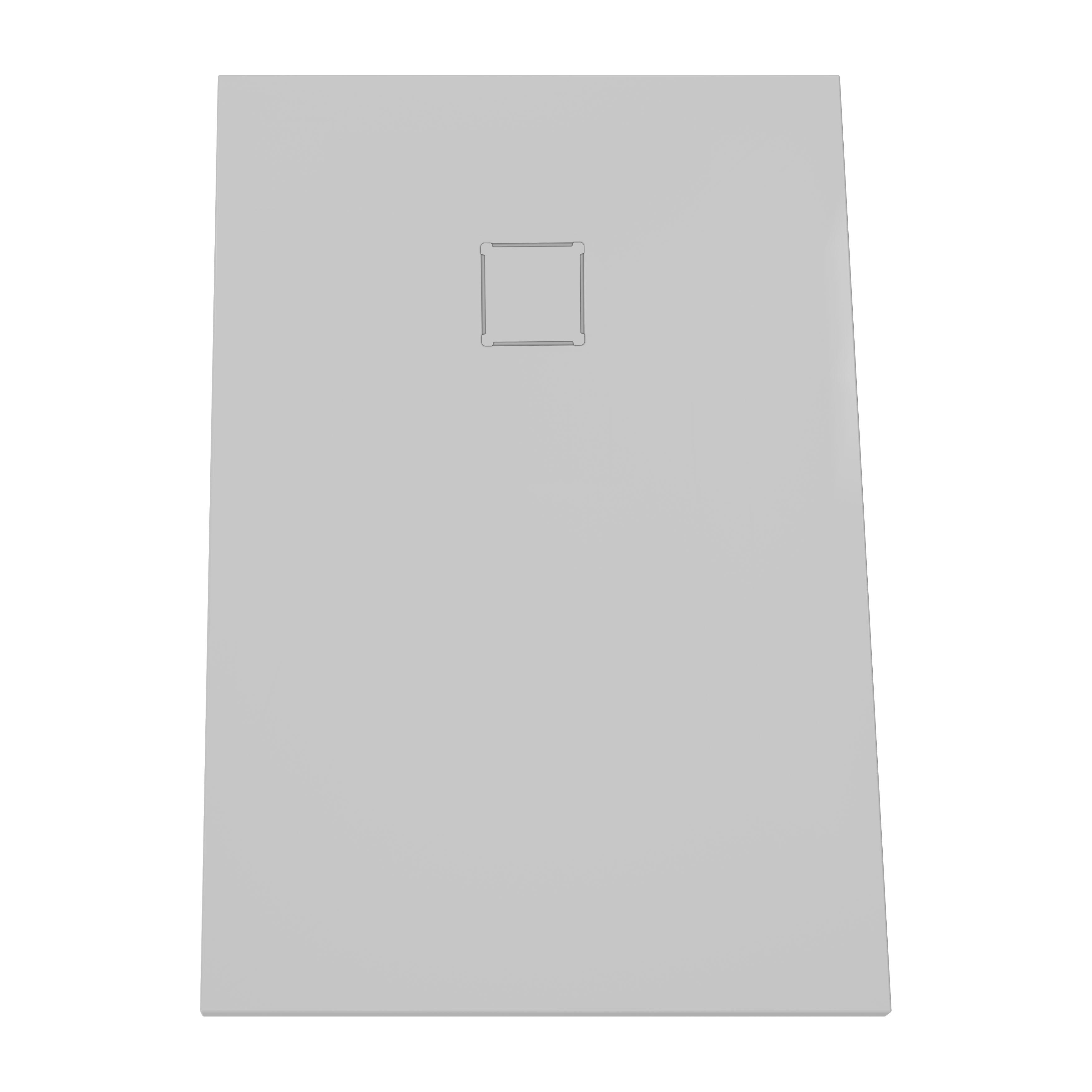 V-stone, receveur ultra plat en solid stone, 120  x  80 cm gris