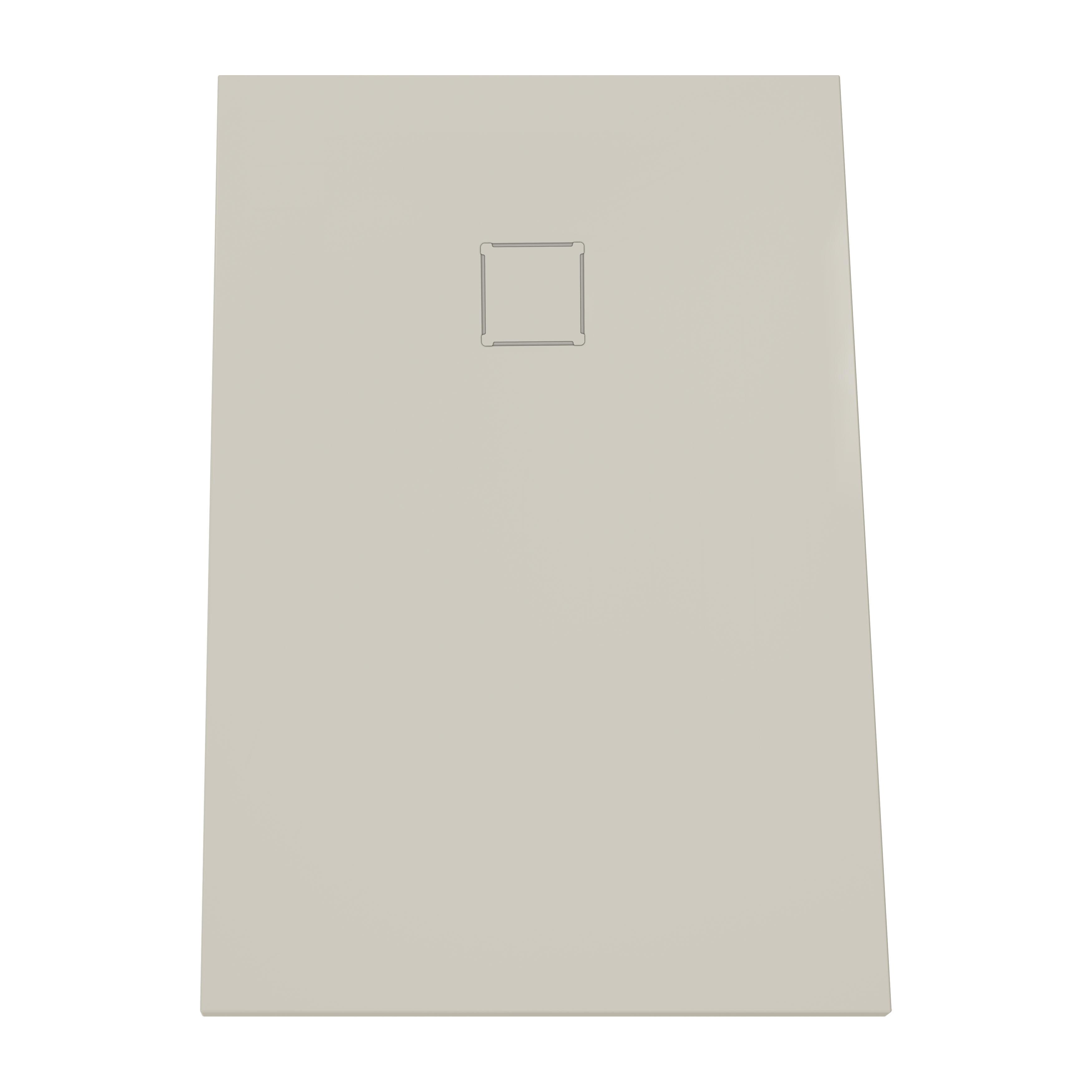 V-stone, receveur ultra plat en solid stone, 120  x  80 cm taupe