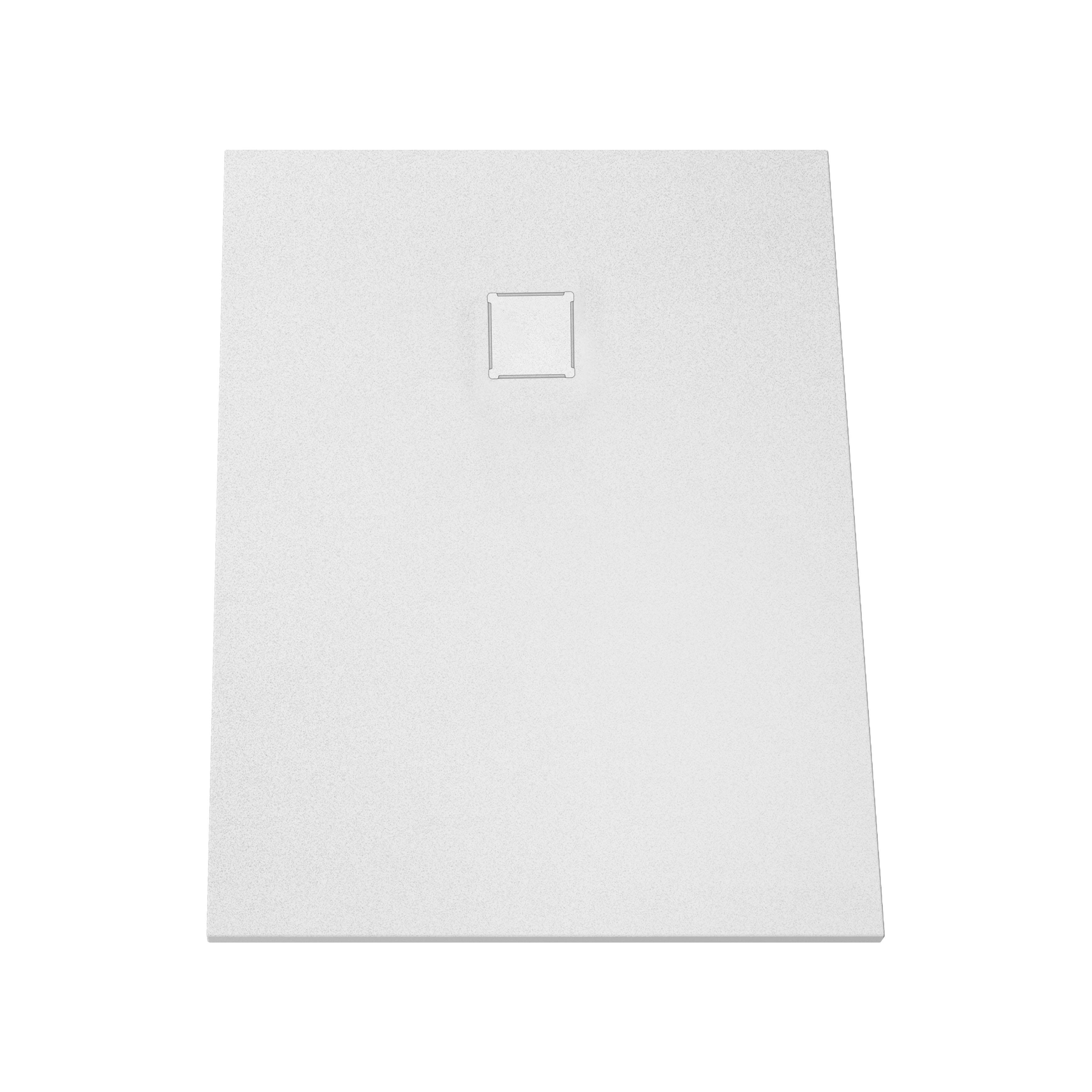 V-stone, receveur ultra plat en solid stone, 120  x  90 cm blanc