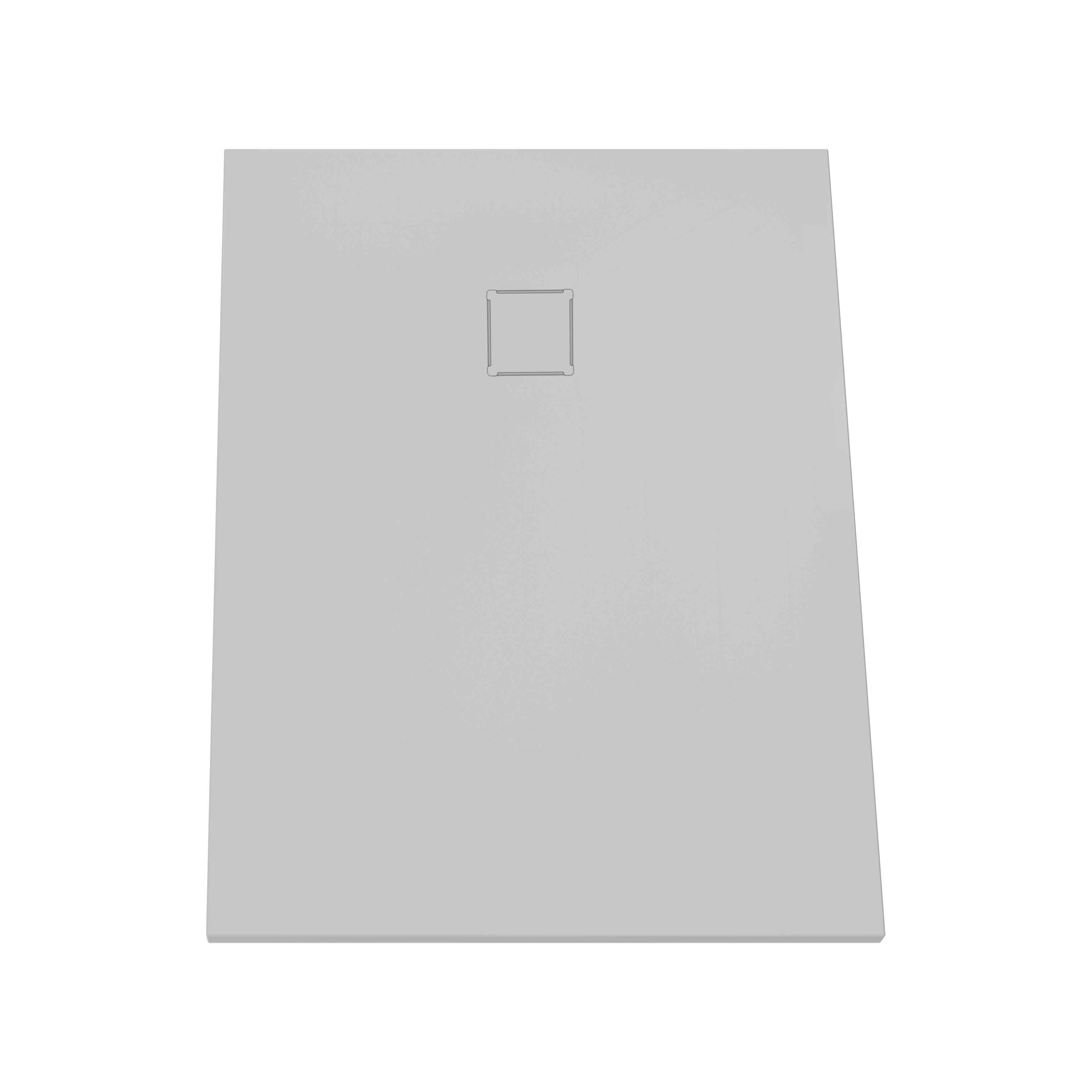 V-stone, receveur ultra plat en solid stone, 120  x  90 cm gris