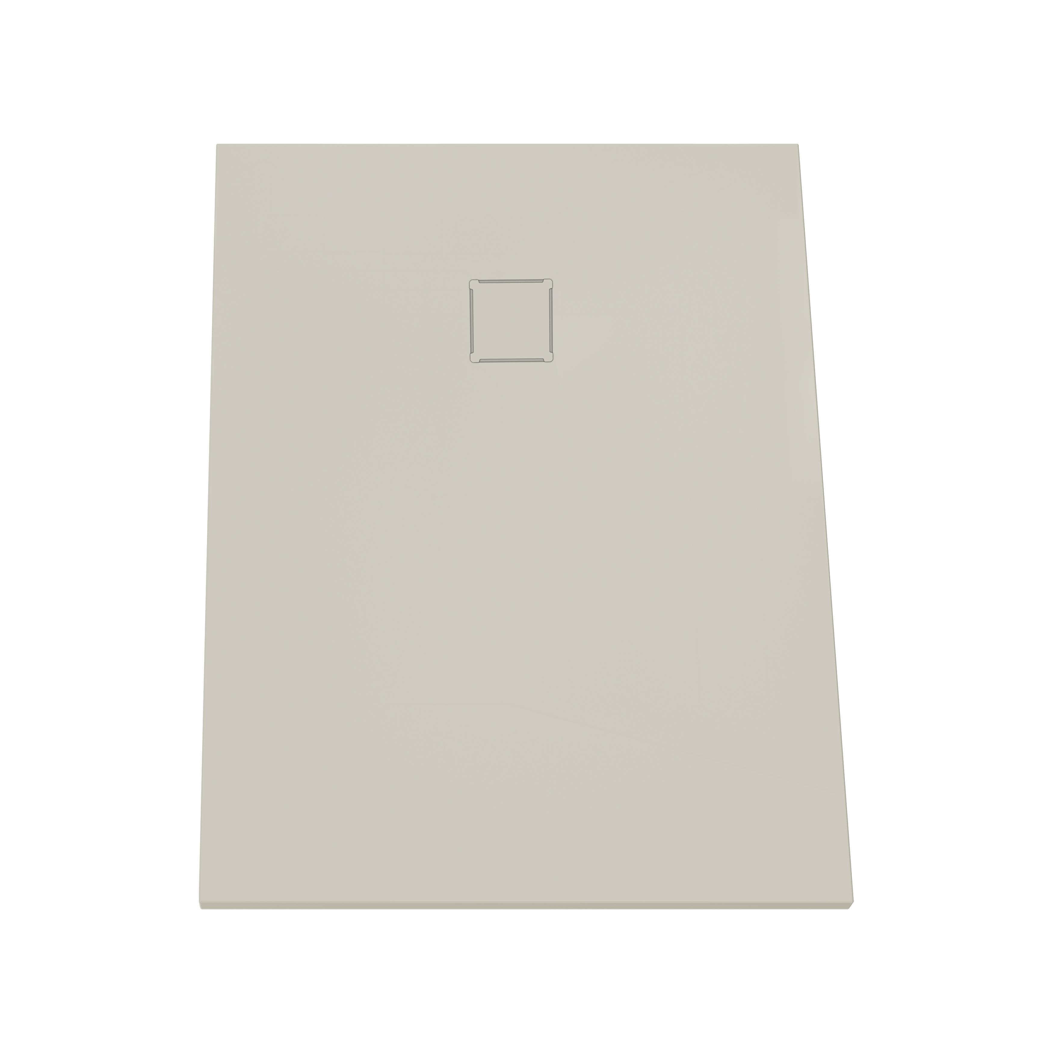 V-stone, receveur ultra plat en solid stone, 120  x  90 cm taupe