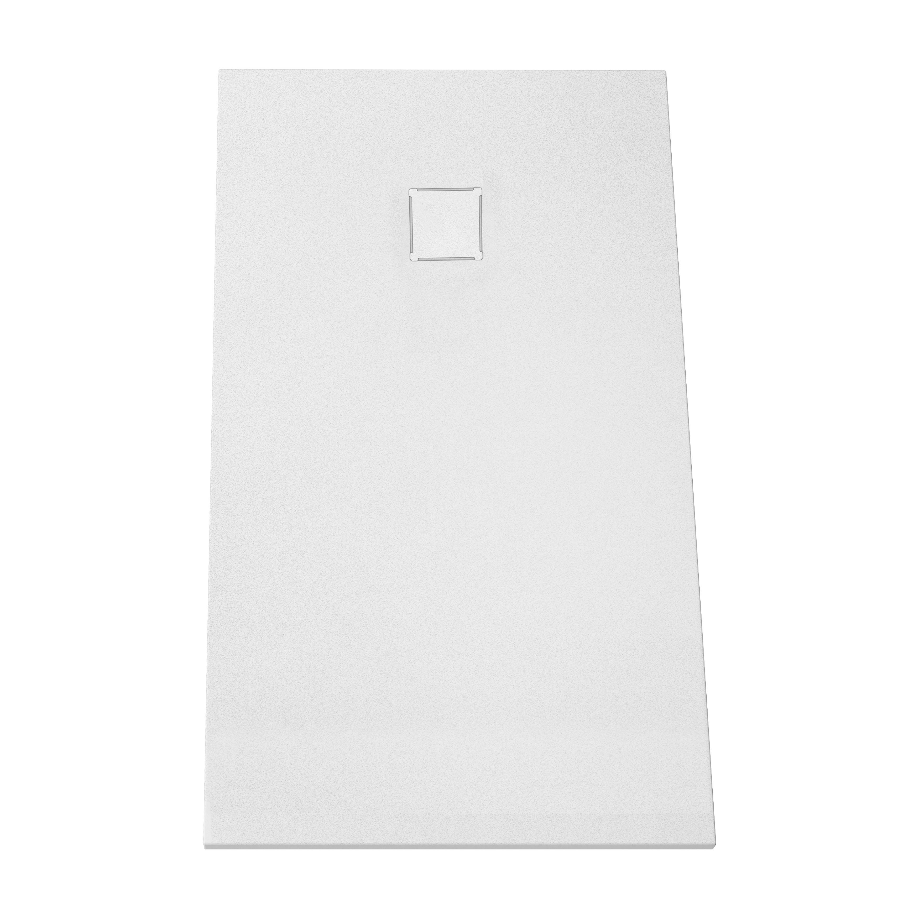 V-stone, receveur ultra plat en solid stone, 140  x  70 cm blanc