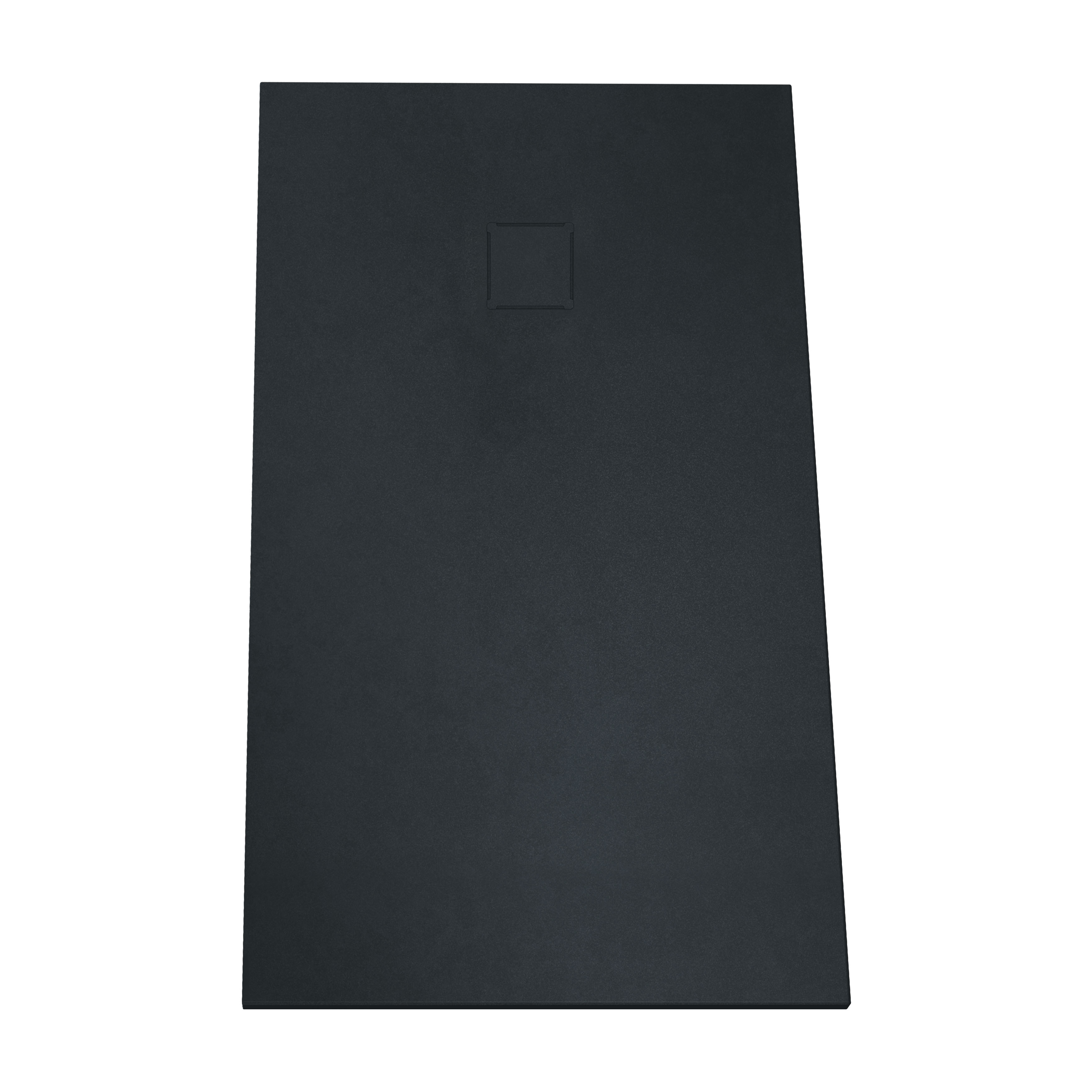 V-stone, receveur ultra plat en solid stone, 140  x  80 cm, anthraciteacite