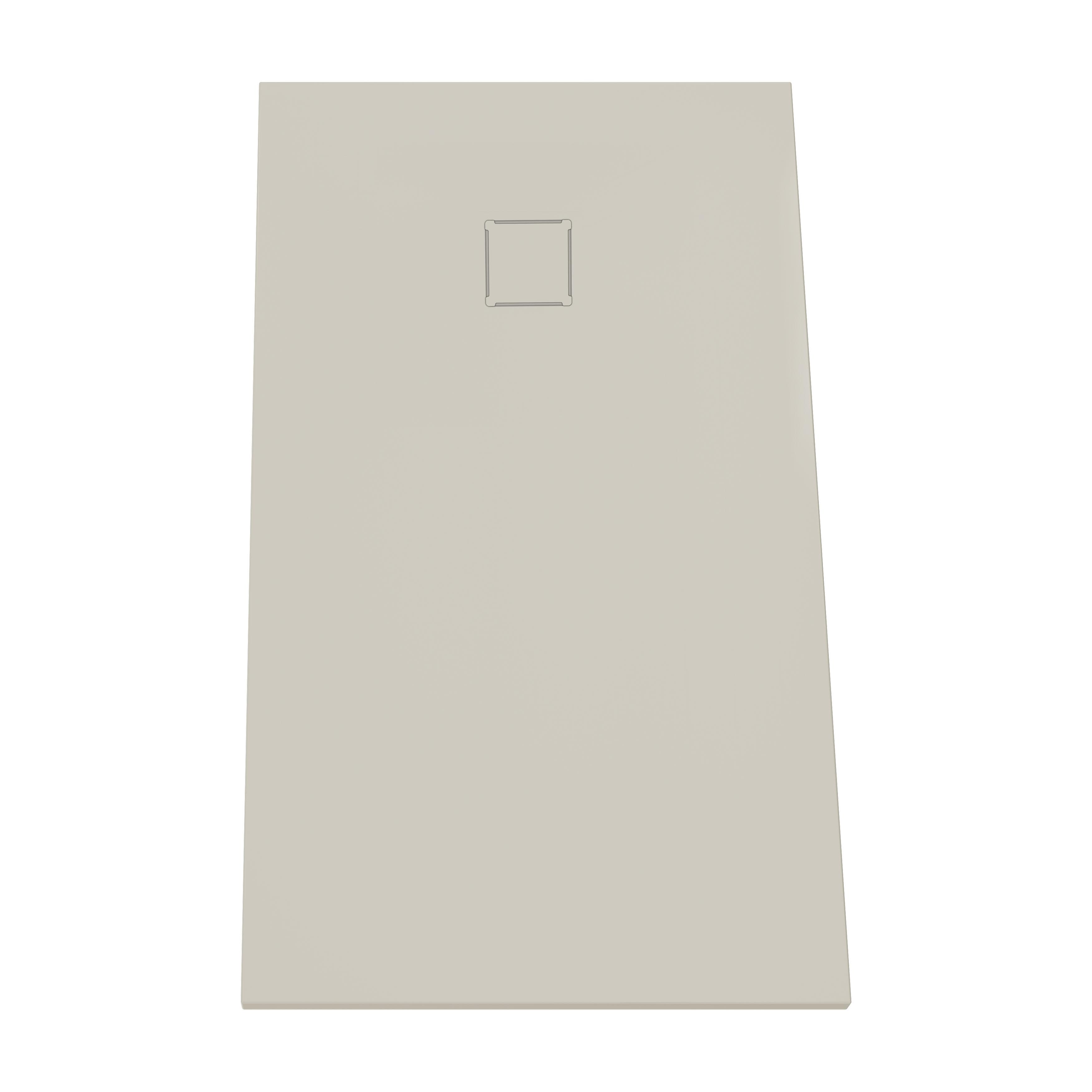 V-stone, receveur ultra plat en solid stone, 140  x  80 cm, taupe