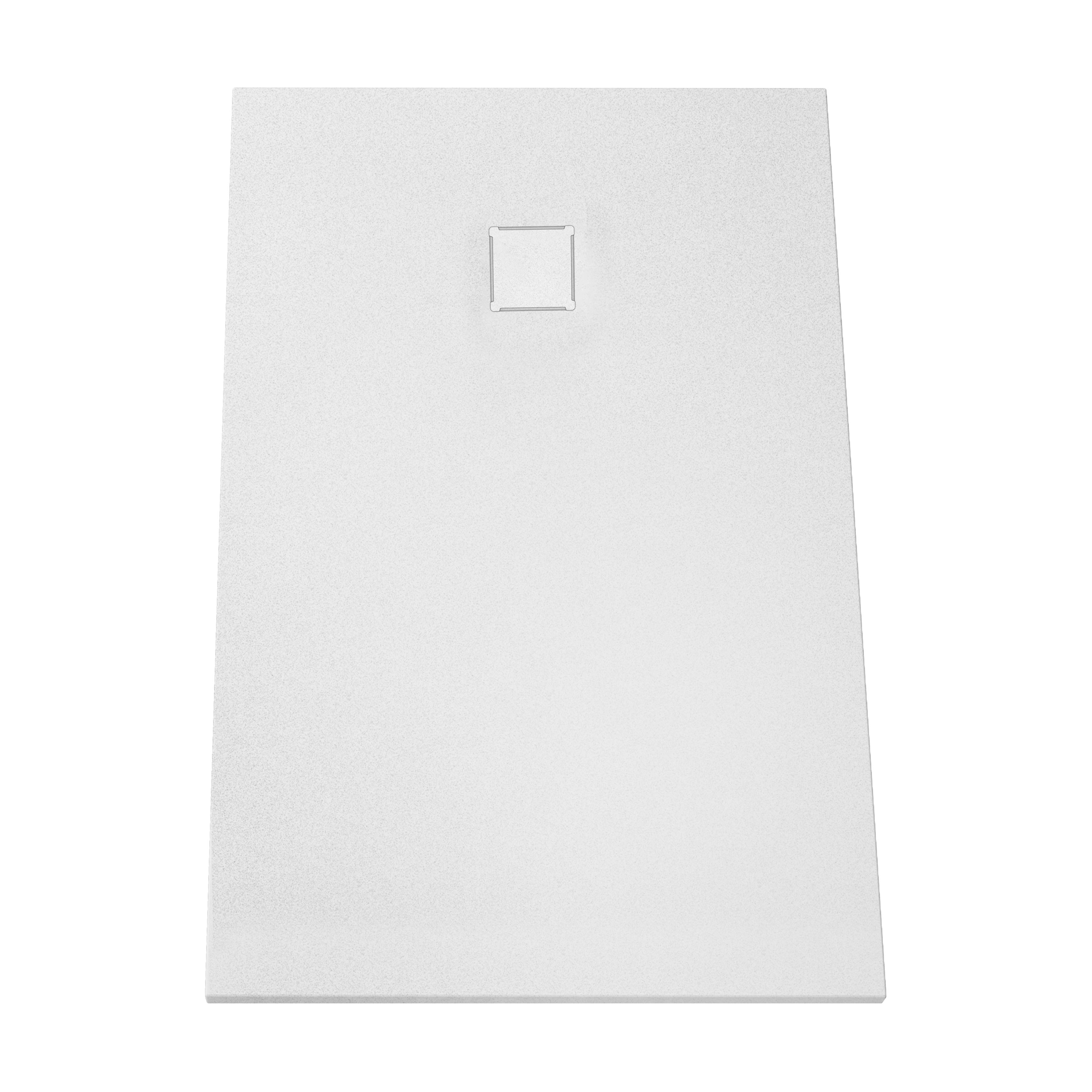 V-stone, receveur ultra plat en solid stone, 140  x  90 cm, blanc