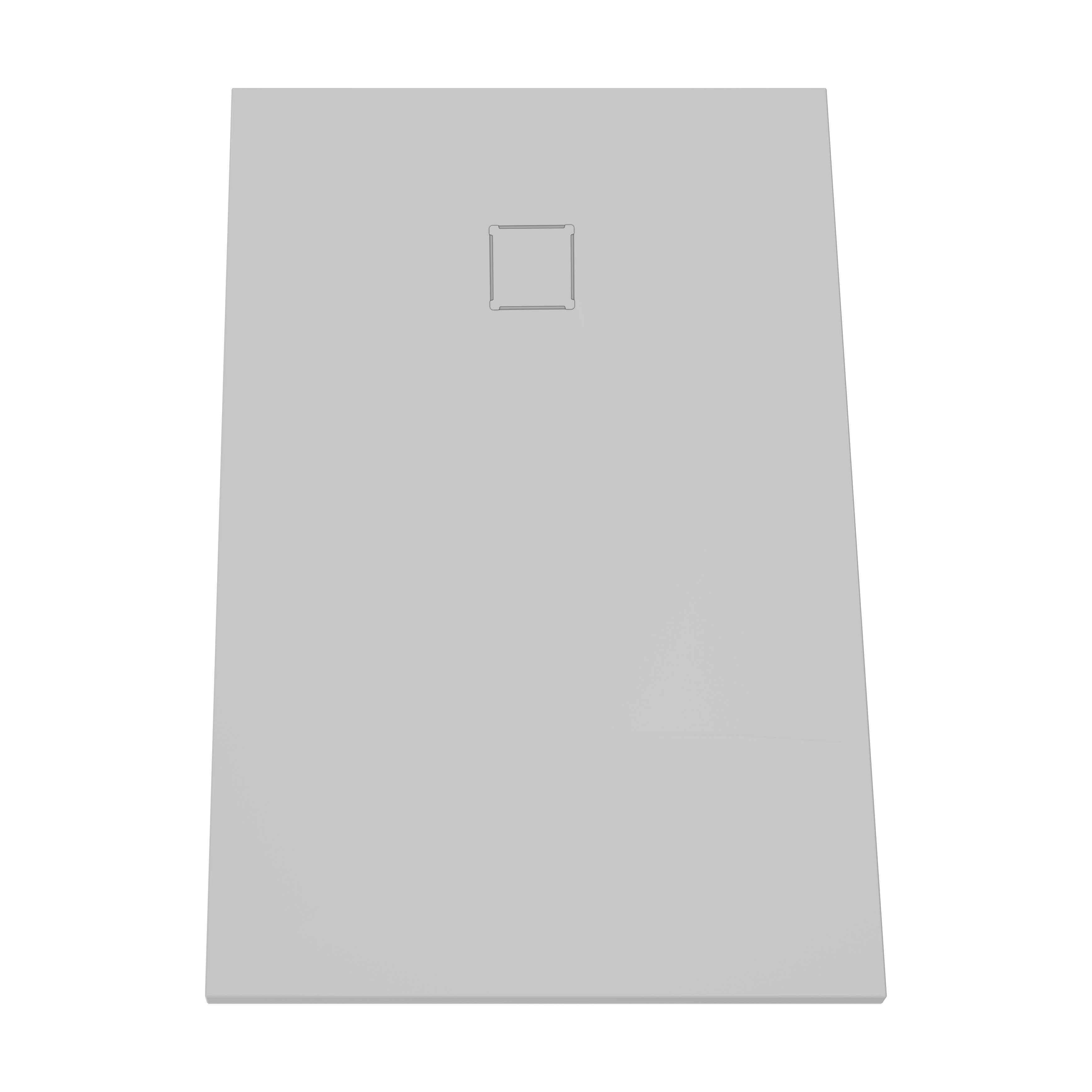 V-stone, receveur ultra plat en solid stone, 140  x  90 cm, gris