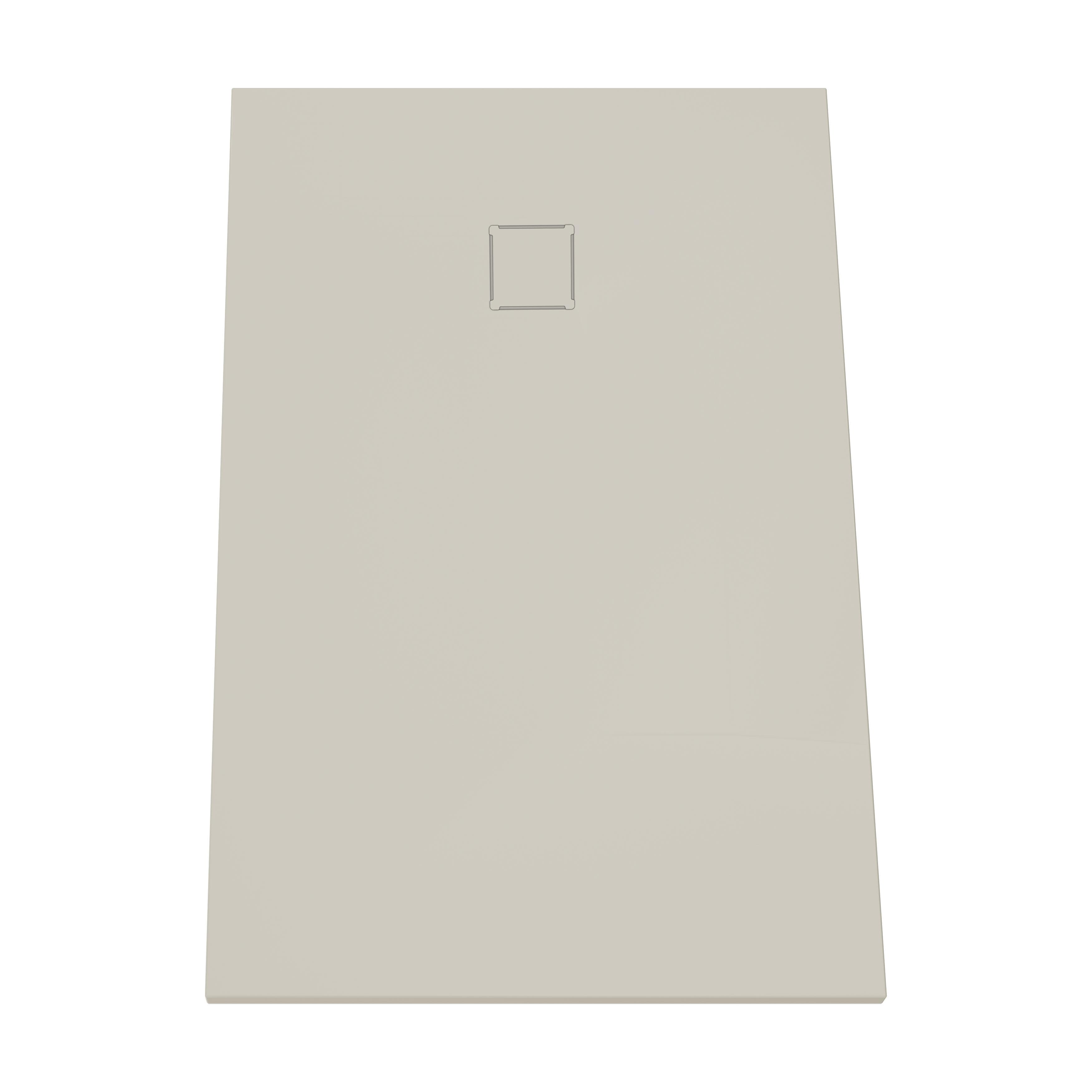 V-stone, receveur ultra plat en solid stone, 140  x  90 cm, taupe