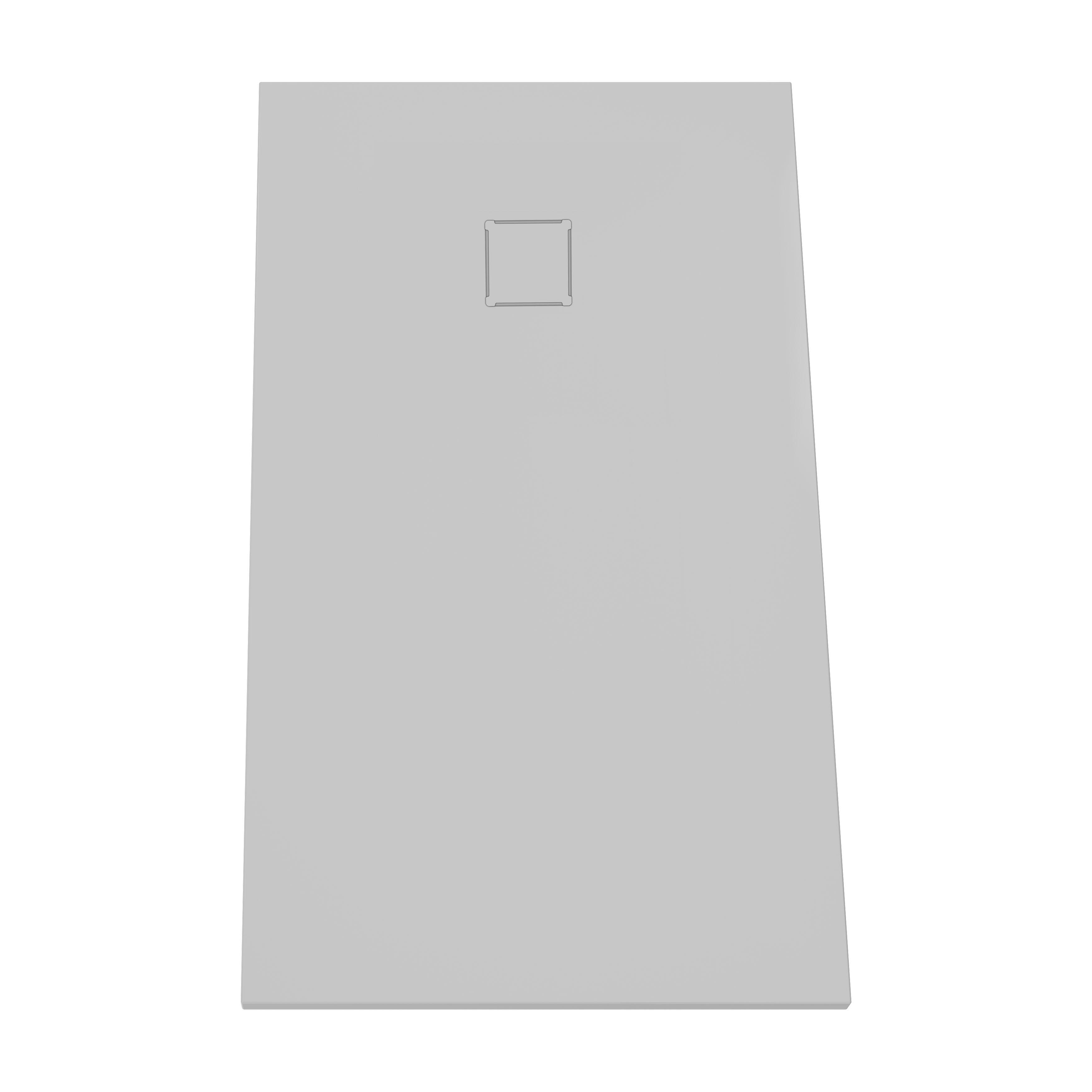 V-stone, receveur ultra plat en solid stone, 160  x  80 cm, gris