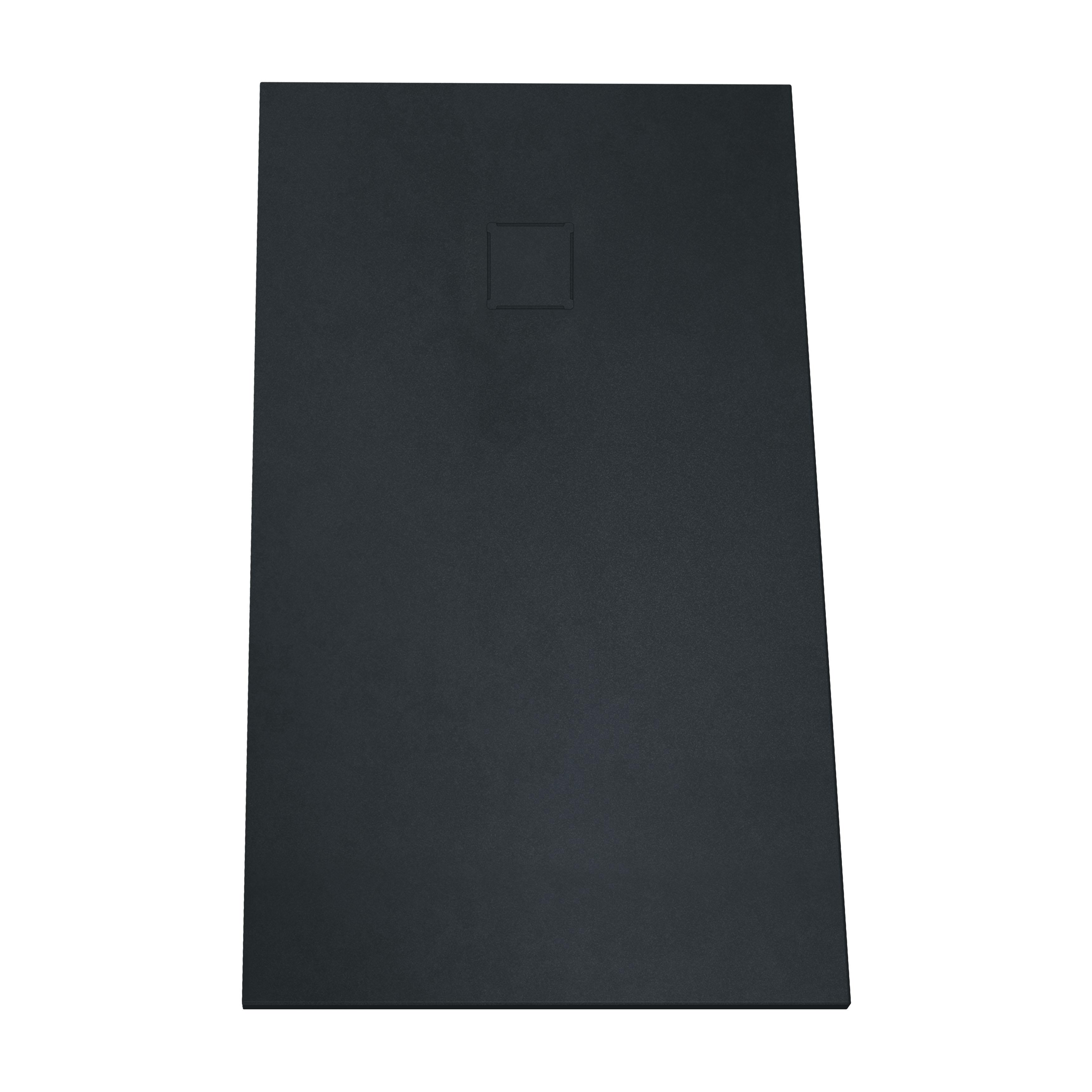 V-stone, receveur ultra plat en solid stone, 160  x  80 cm, anthraciteacite