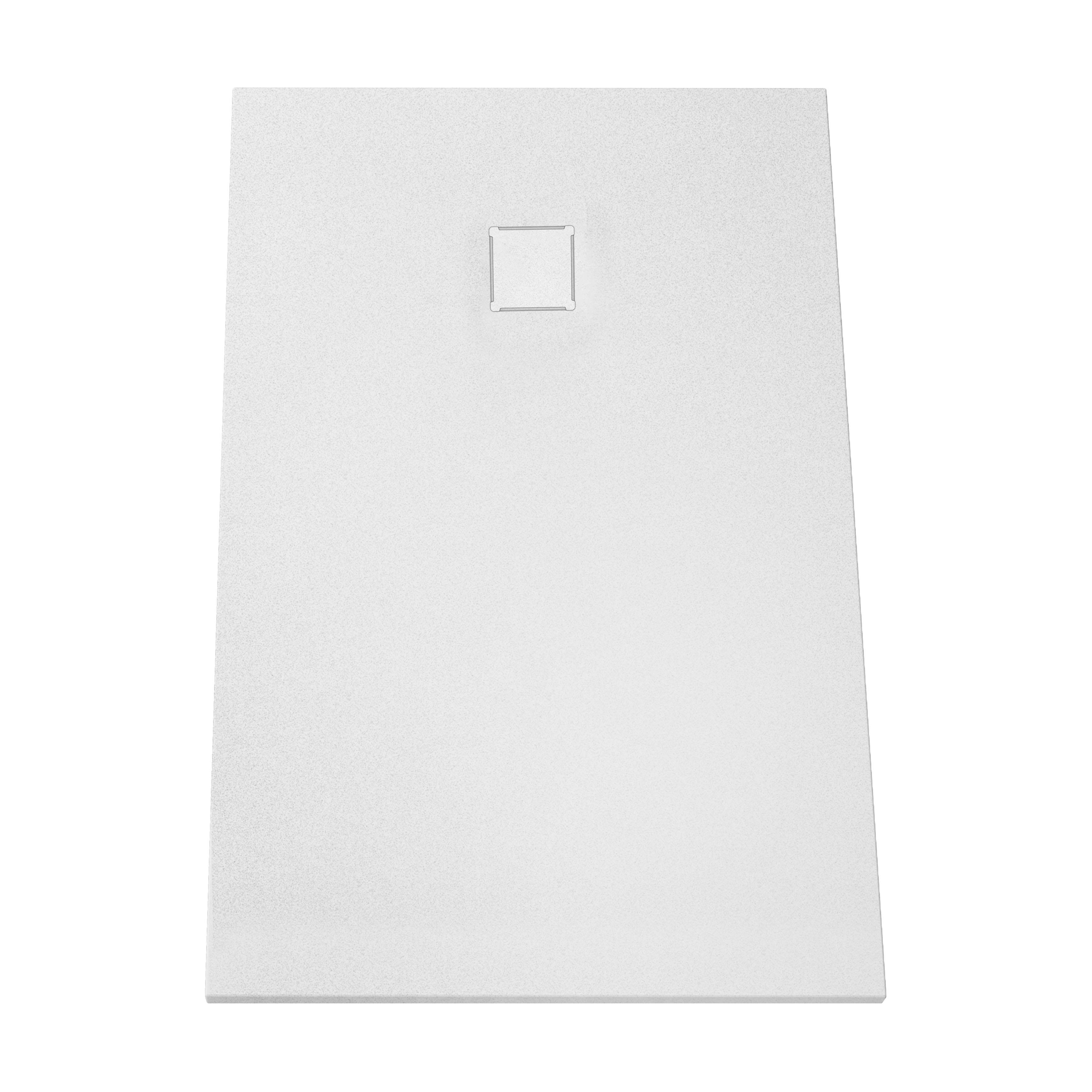 V-stone, receveur ultra plat en solid stone, 160  x  90 cm, blanc