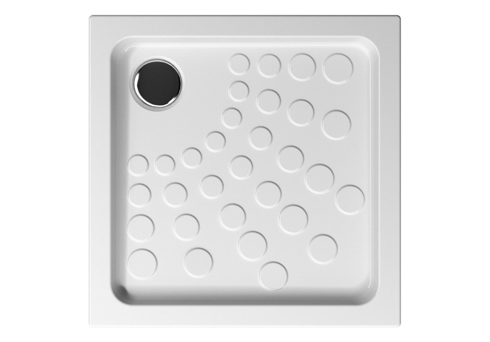 Arkitekt receveur à encastrer ou à poser fond extra plat, 70  x  70 cm, blanc