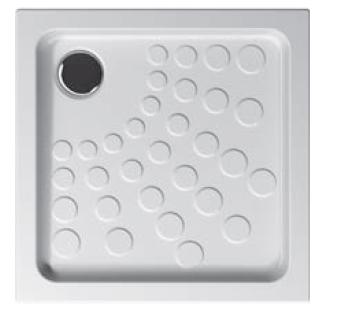 Arkitekt receveurs à encastrer ou à poser fond extra plat, VitrA Antislip, 70  x  70 cm, blanc