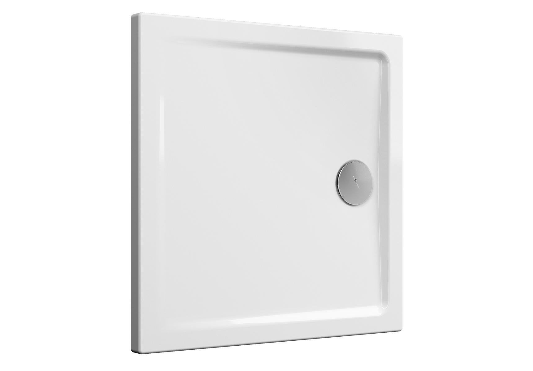 Cascade receveur ultra plat en céramique, 80 cm, carré, blanc