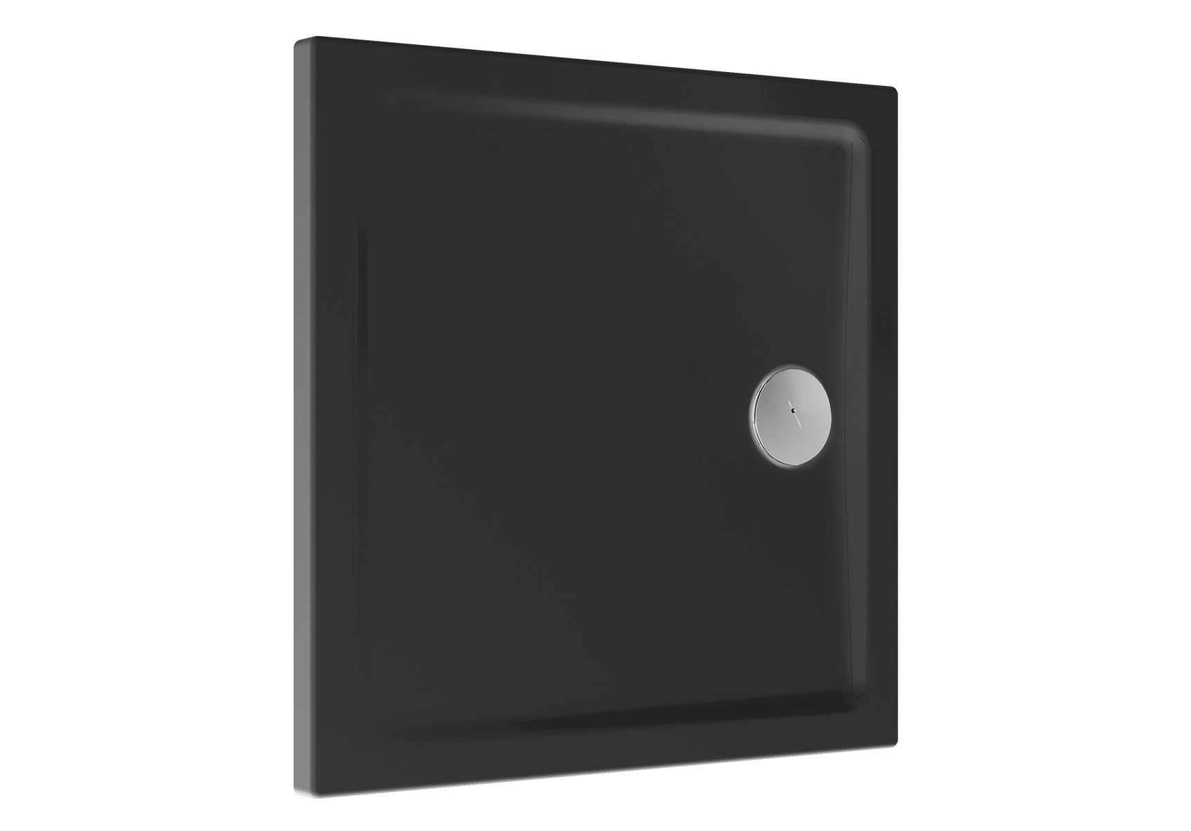Cascade receveur ultra plat en céramique, 80 cm, carré, anthraciteacite