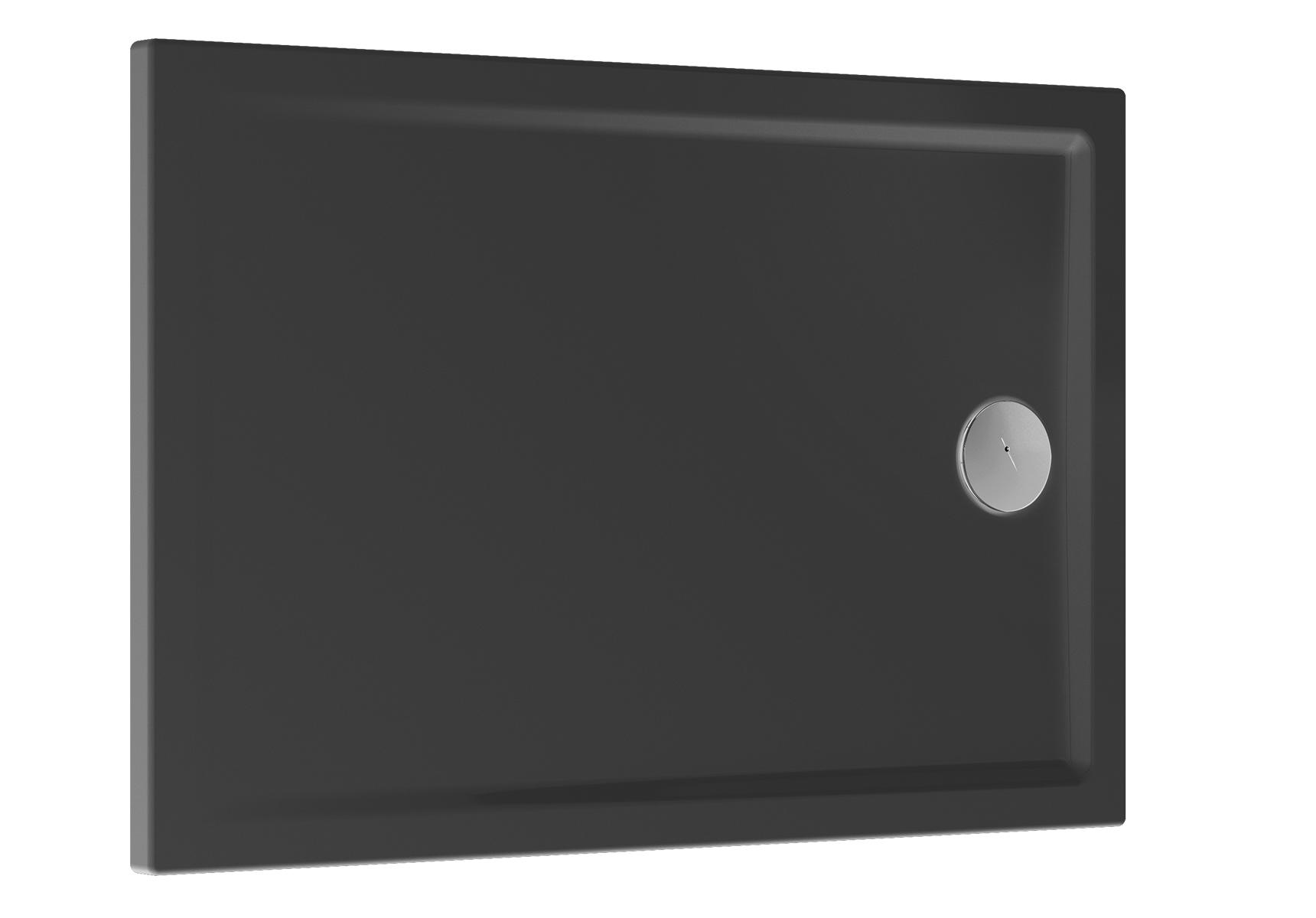 Cascade receveur ultra plat en céramique, 100  x  80 cm, anthraciteacite