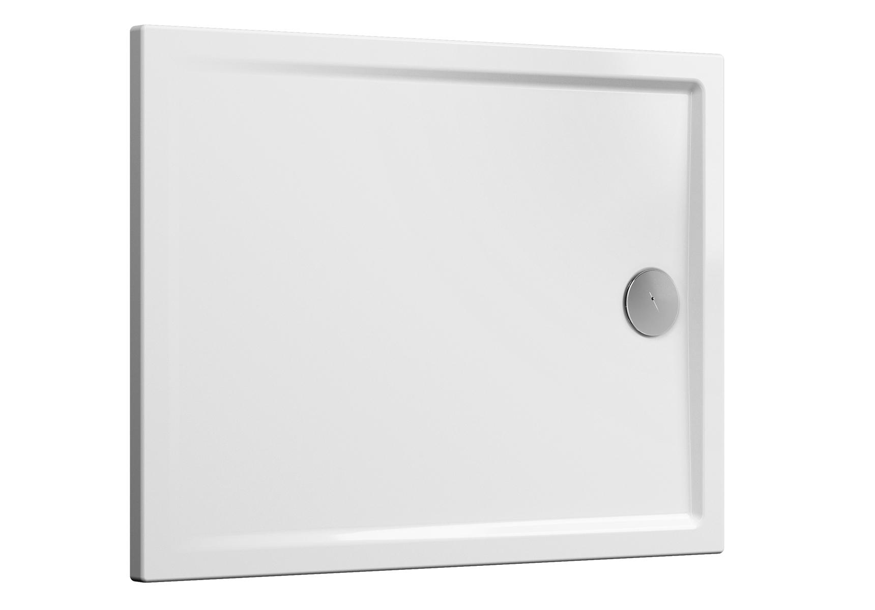 Cascade receveur ultra plat en céramique, 120  x  90 cm, blanc mat