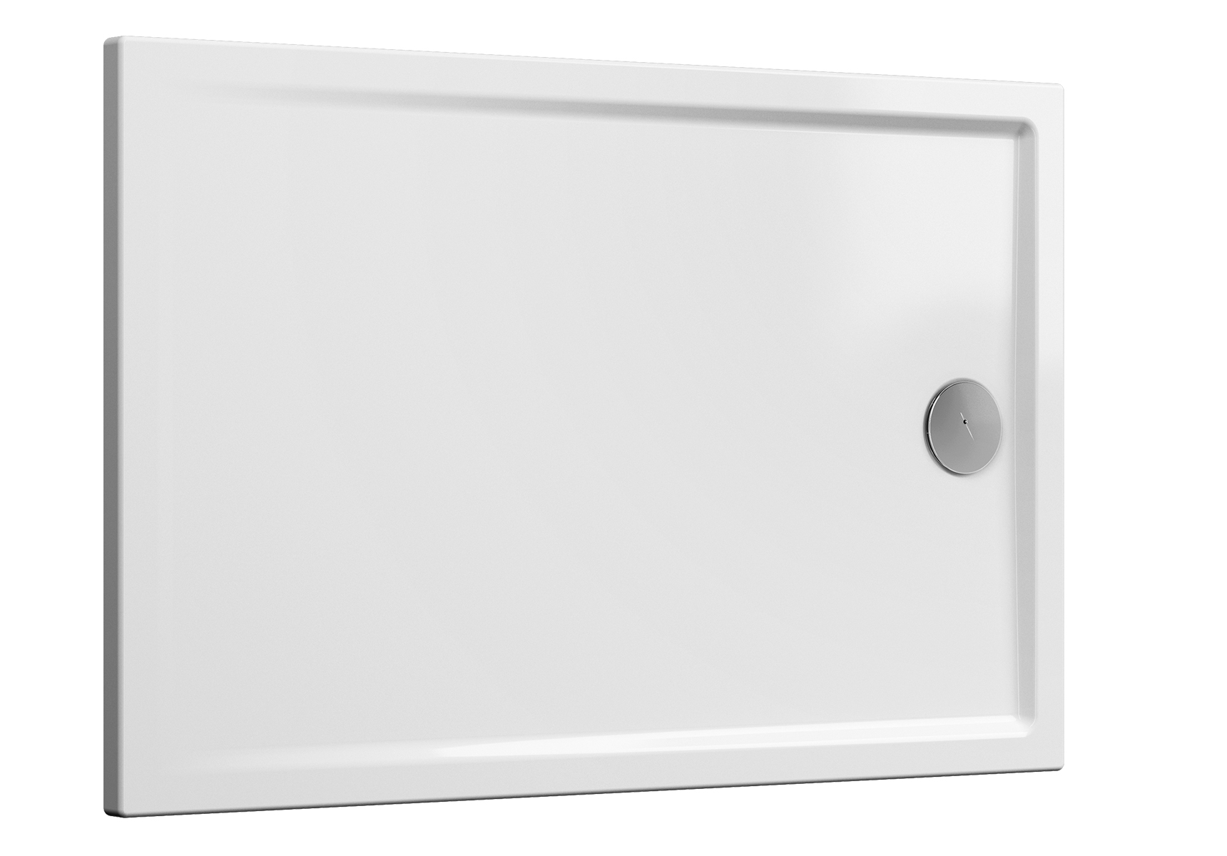 Cascade receveur ultra plat en céramique, 140  x  90 cm, blanc mat