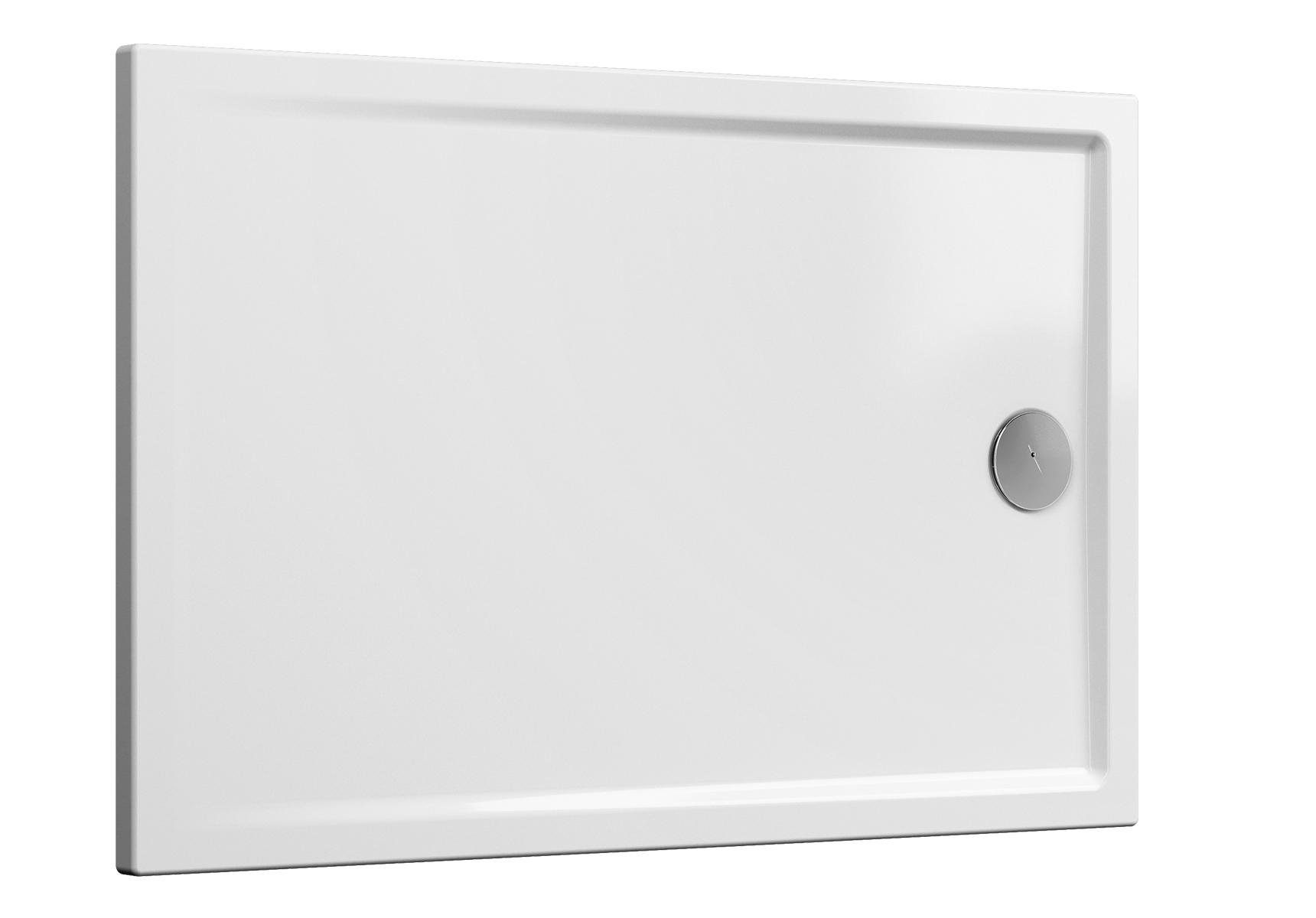 Cascade receveur ultra plat en céramique, 140  x  90 cm, blanc