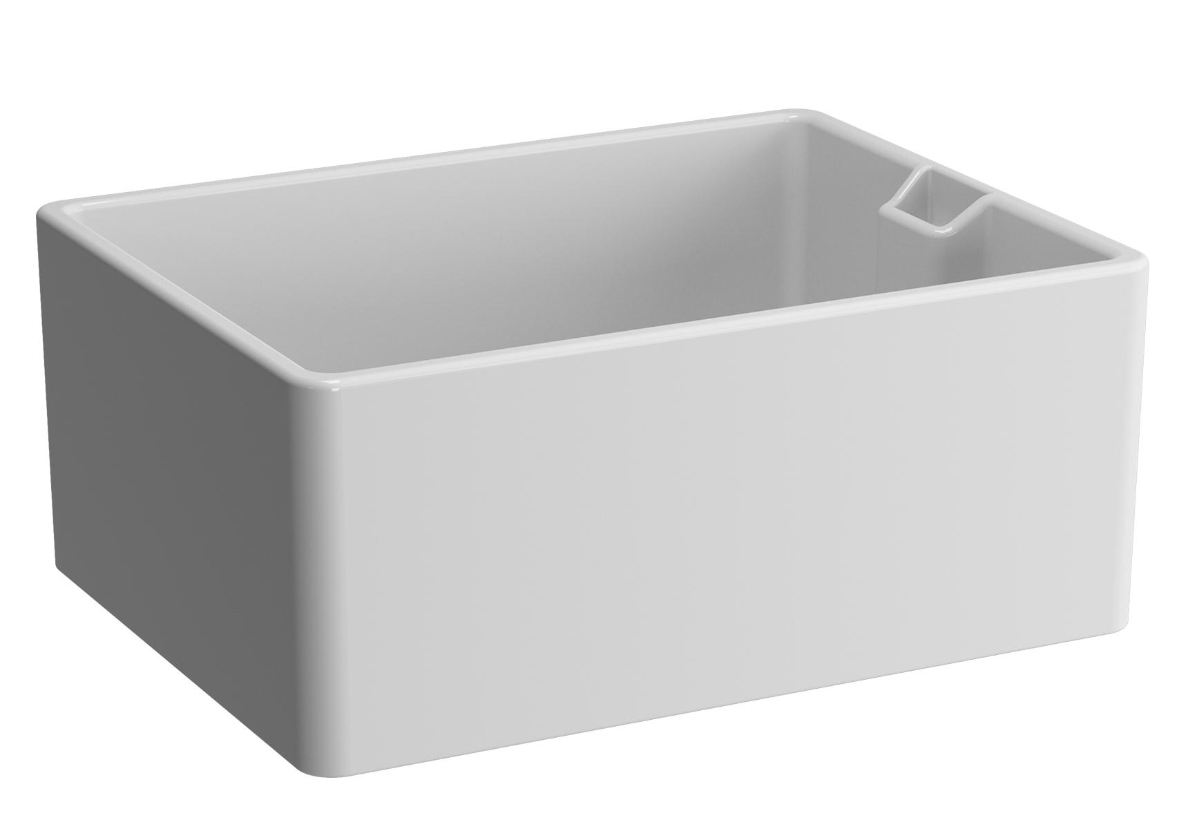 Arkitekt evier cuisine, sans plage de robinetterie, avec trop-plein, 59,5 cm