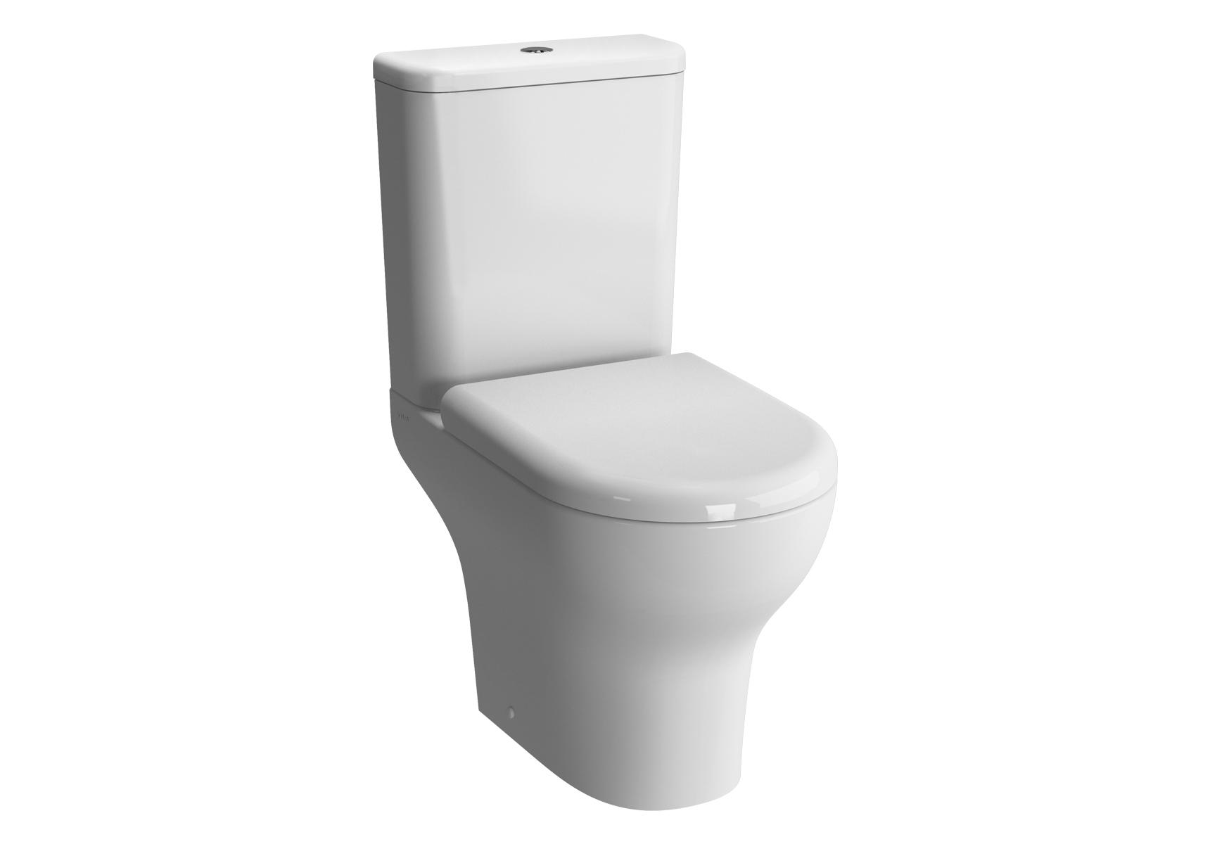 Zentrum WC à poser avec bride, 61 cm, S / H