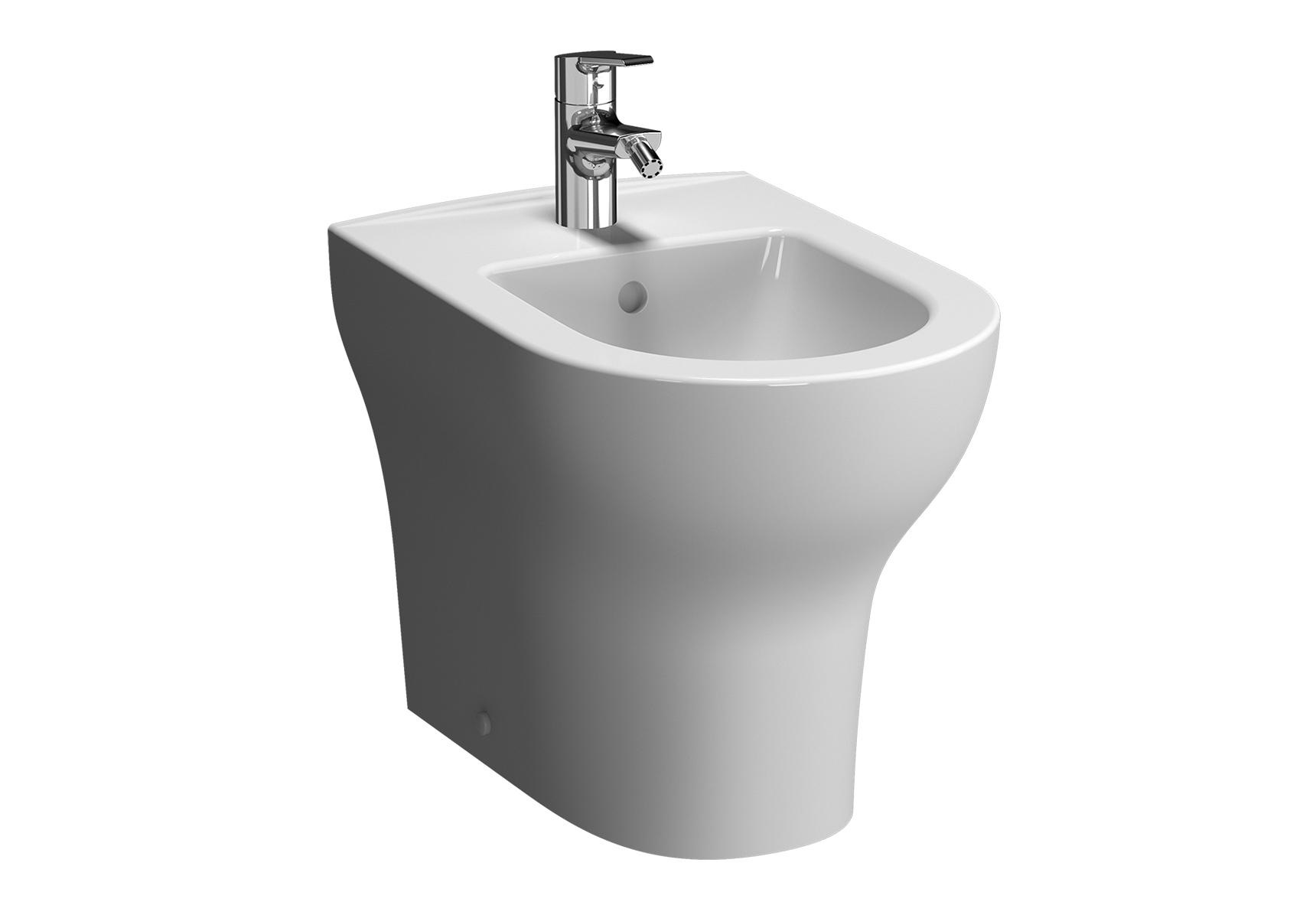 Zentrum bidet à poser, 52 cm, avec trop-plein, 1 trou de robinet central