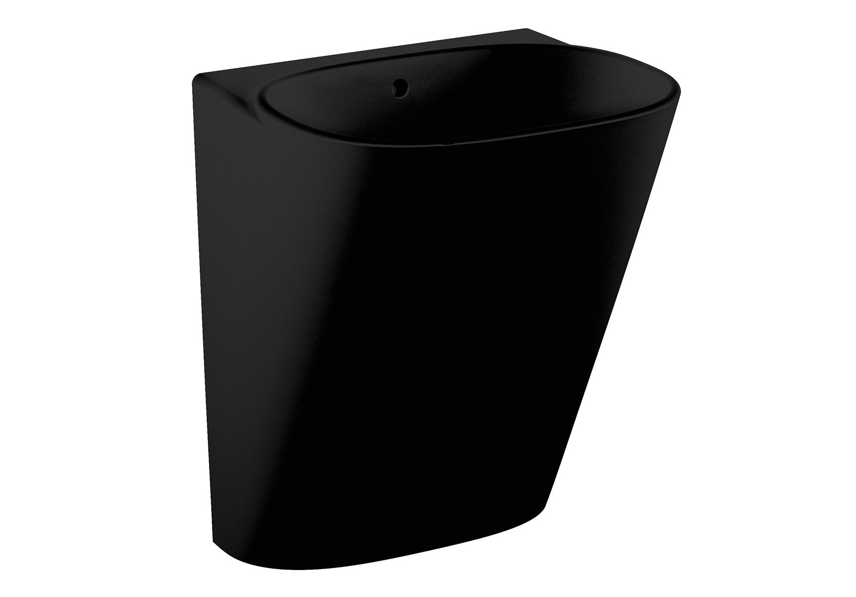 Frame Halbmonoblock, ohne Hahnloch, ohne Überlaufloch, Schwarz mit VitrA Clean