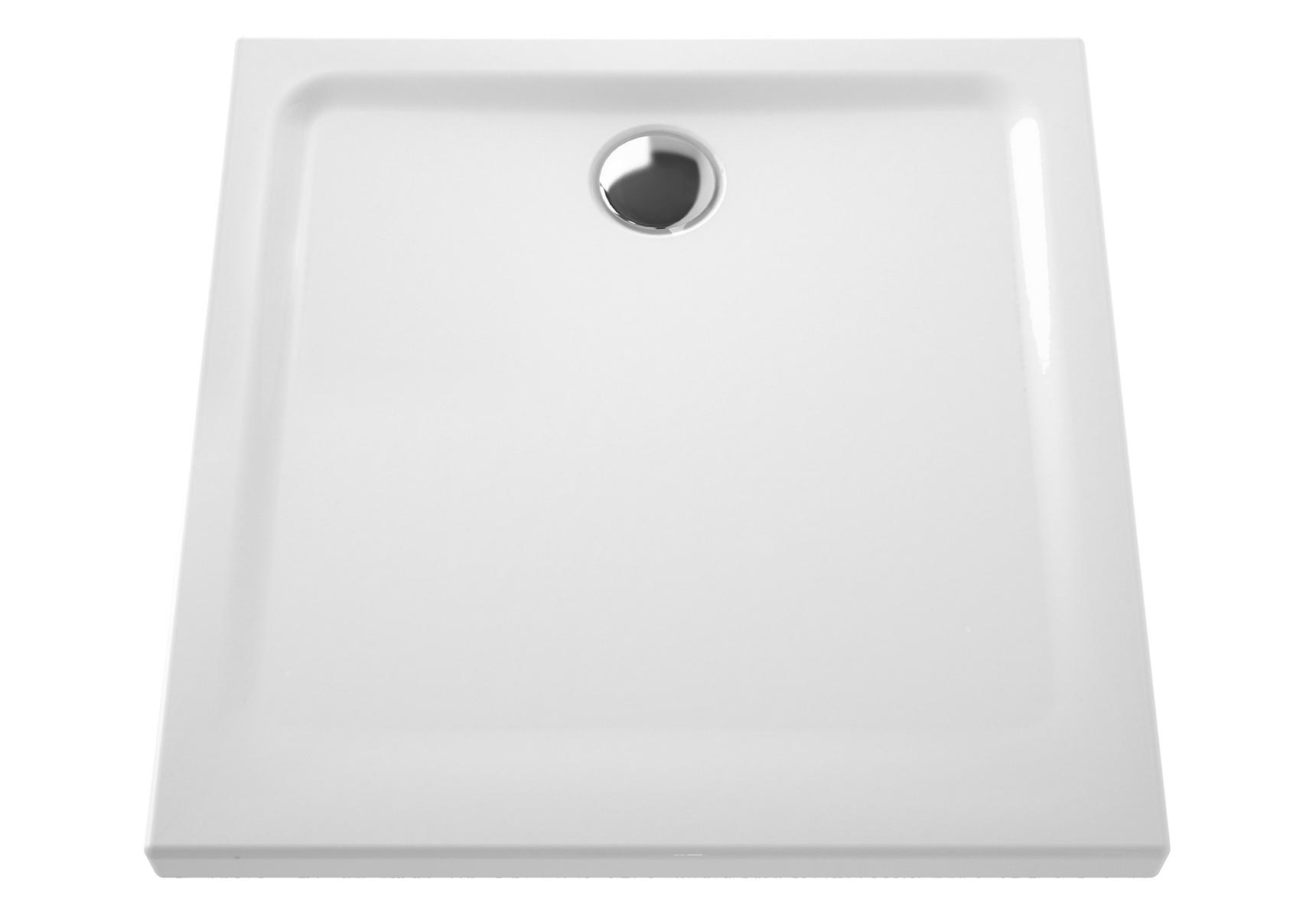 Arkitekt receveur à encastrer ou à poser extra plat, 80  x  80 cm