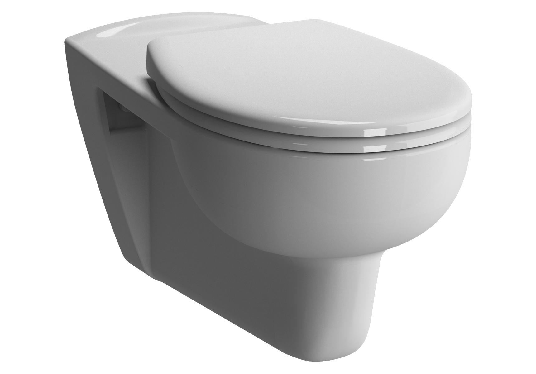 Conforma WC suspendu à fond plat, 70 cm PMR, adapté pour chaise roulante