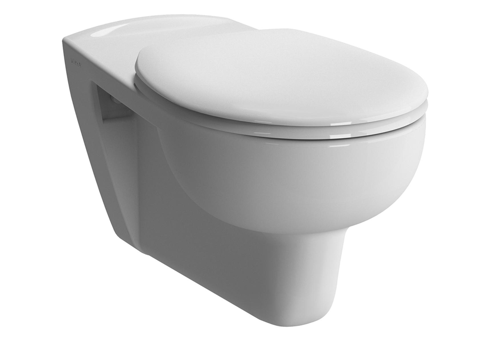 Conforma WC suspendu 70 cm PMR, sans trou d'abattant, adapté pour chaise roulante