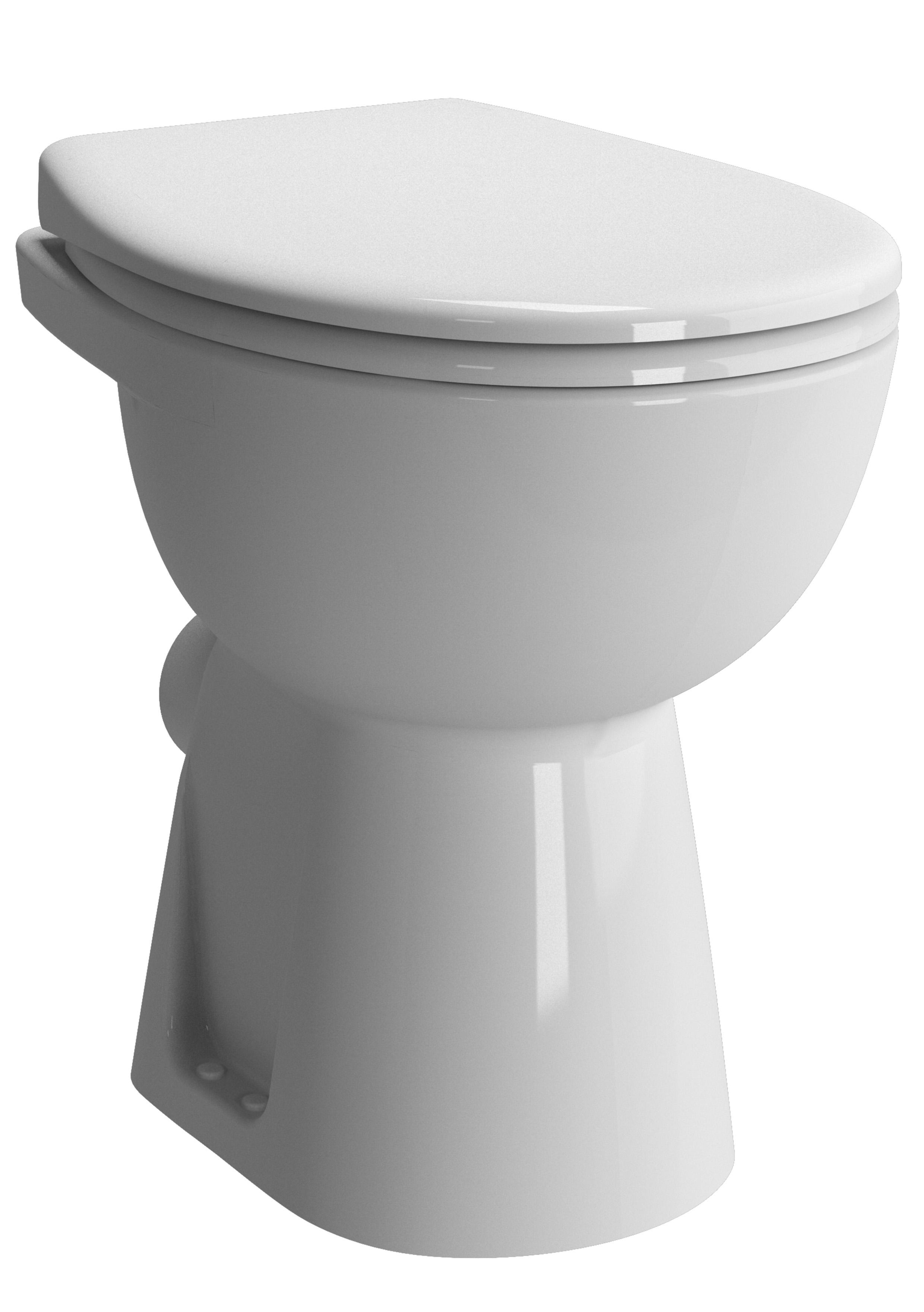 Conforma WC à poser avec bride, S/H, 48,5 cm, sans trou d'abattant