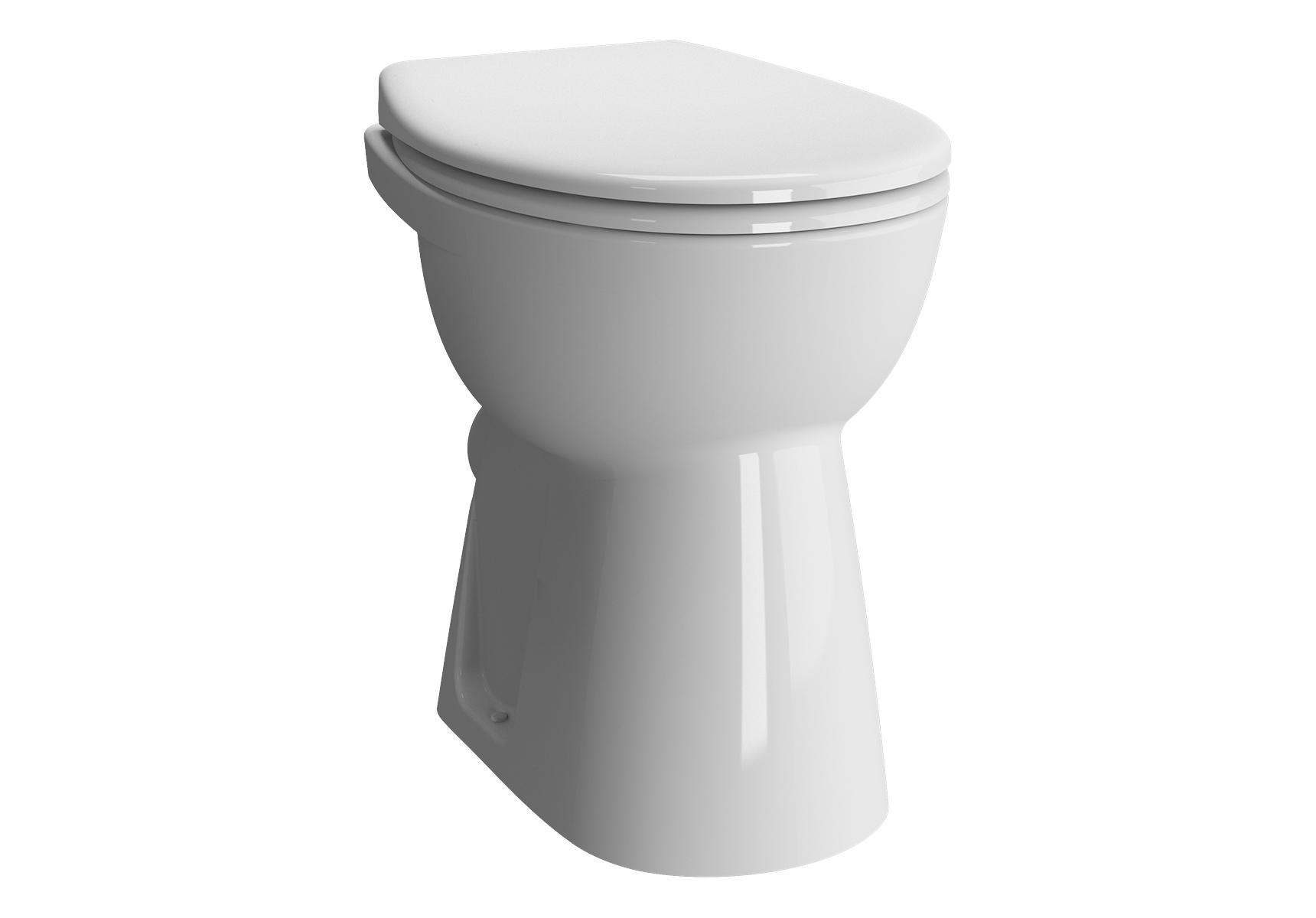 Conforma WC à poser PMR avec bride, 48,5 cm, à fond plat, S / H