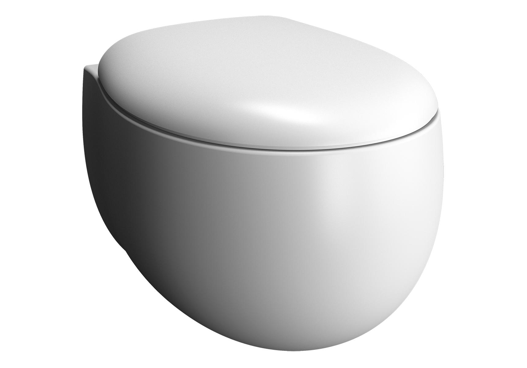 Memoria Black Wand-WC VitrA Flush 2.0, Edelweiß