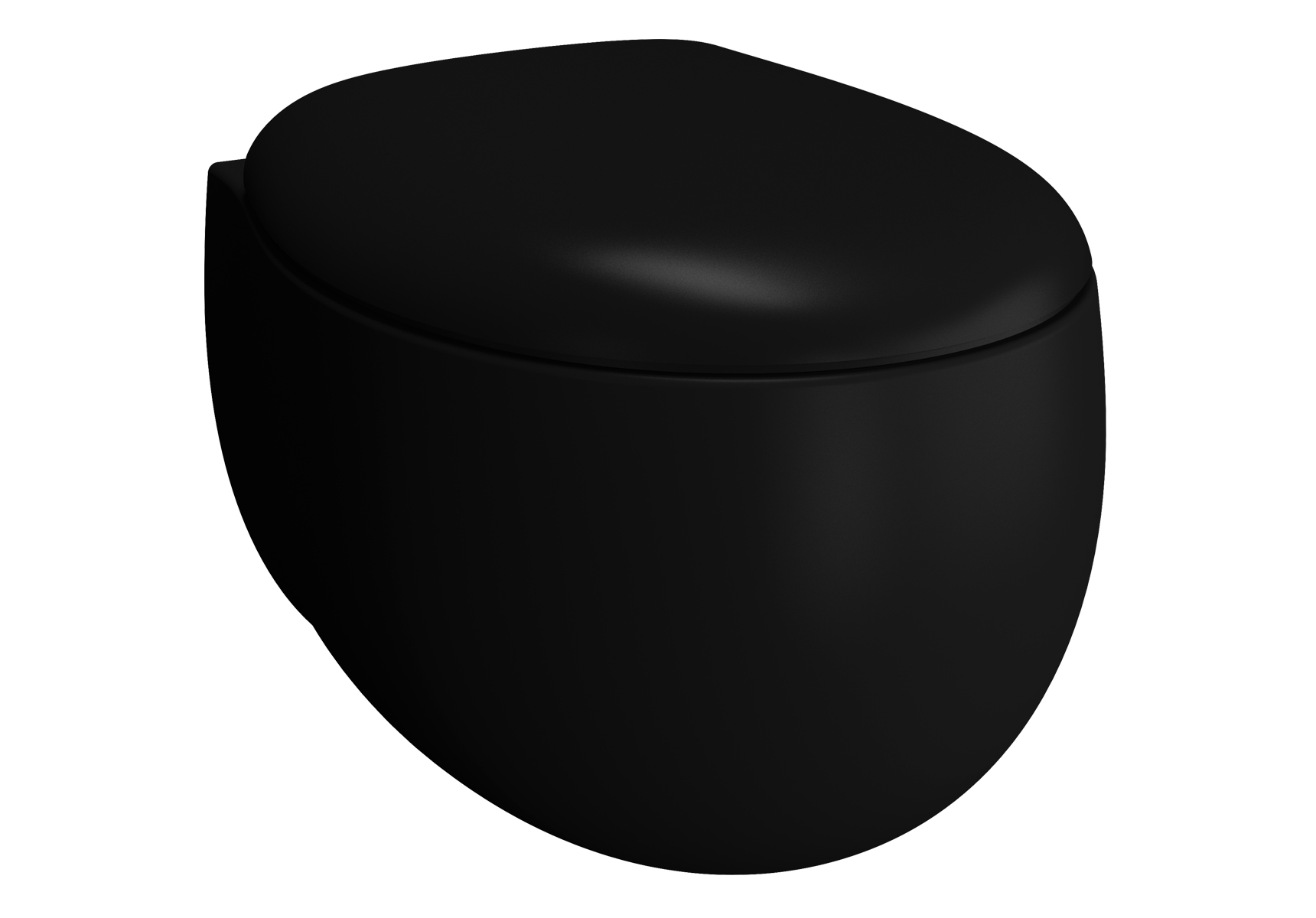 Memoria Black Wand-WC VitrA Flush 2.0, Schwarz Matt