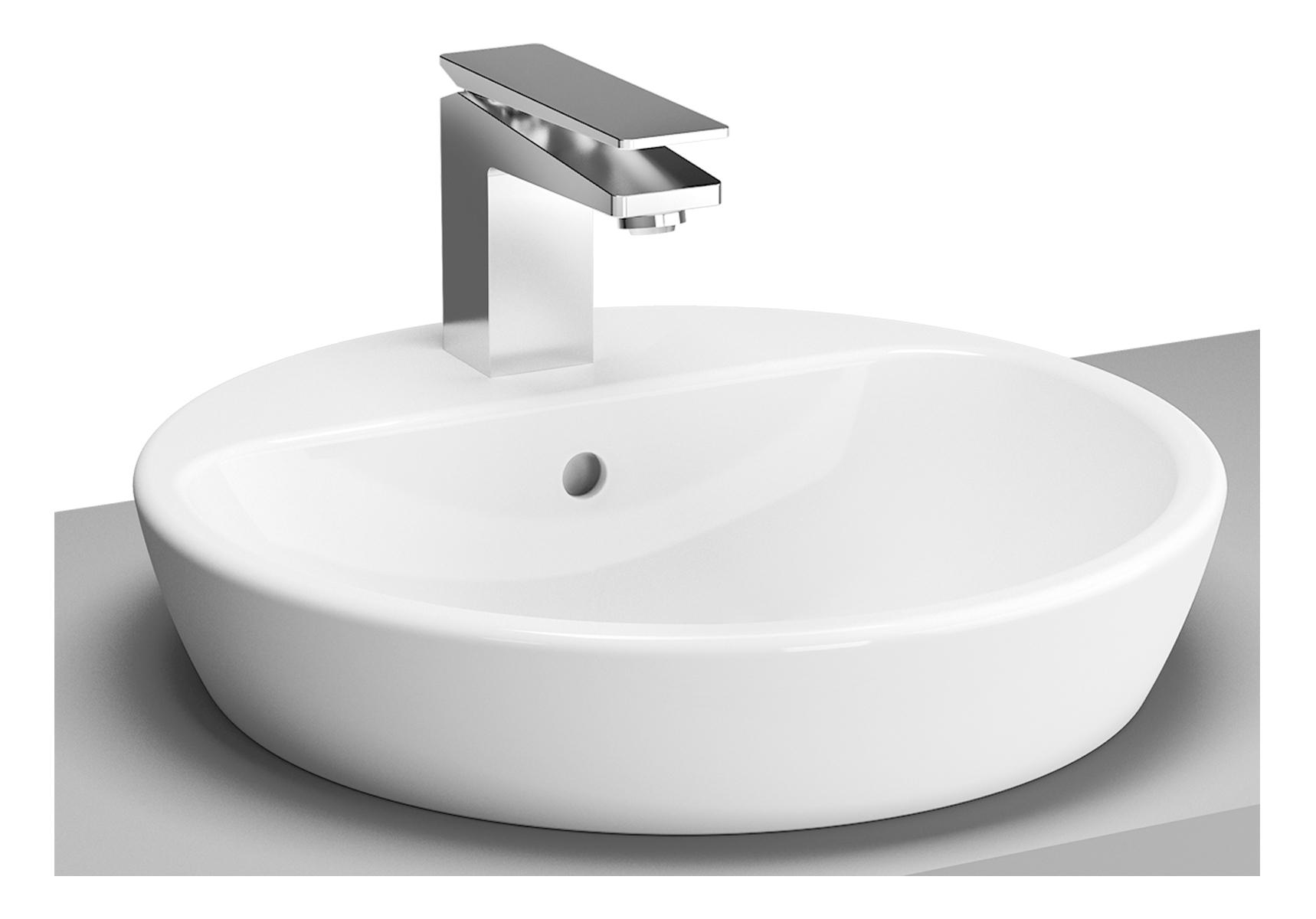 Metropole vasque à poser sur plan de toilette, Ø 44,5 cm, 1 trou de robinet central