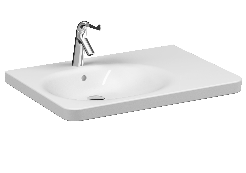 Conforma Waschtisch, 80 cm,  1 Hahnloch, mit Überlaufloch, Weiß, VitrA Clean