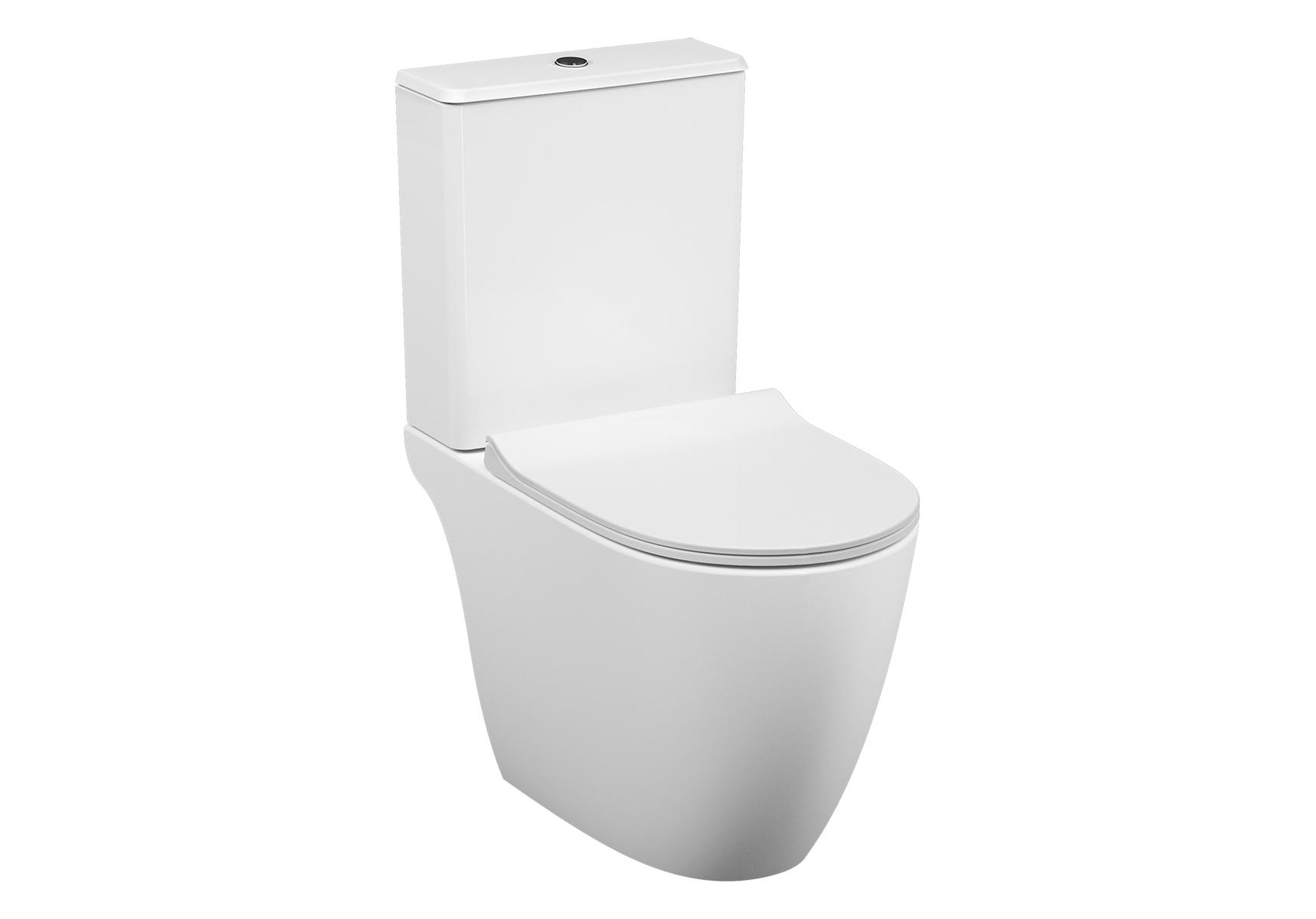 Sento T-WC-Kombination VitrA Flush 2.0, Open Back, Weiß