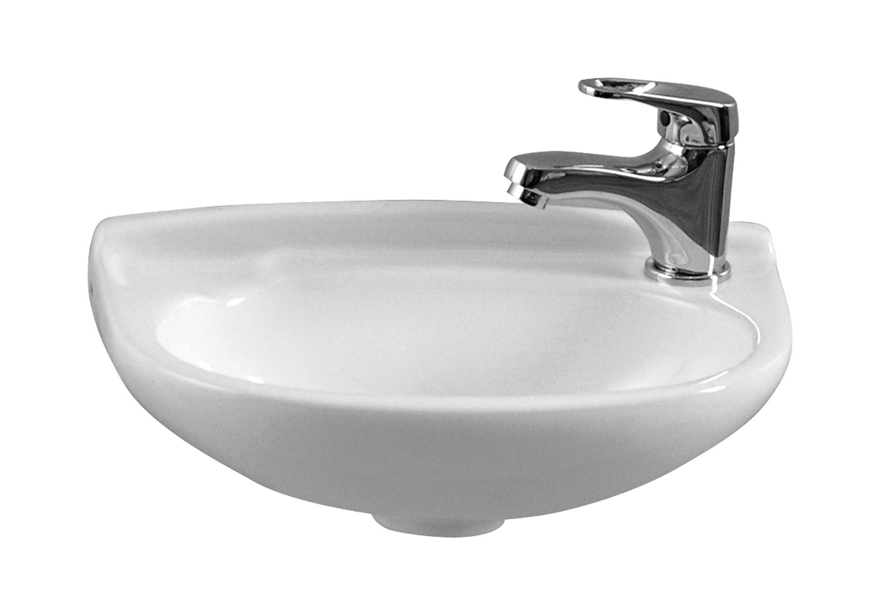 Arkitekt lave-mains, sans trop-plein, 1 trou pour robinet à droite, 39,5 cm