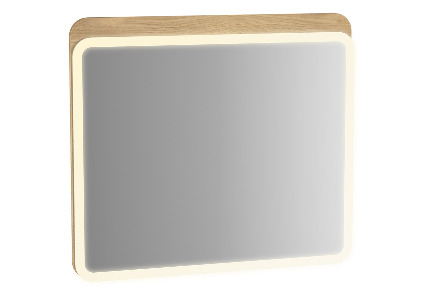 Sento miroir LED, 50 cm, décor chêne naturel, avec éclairage à LED péripherique
