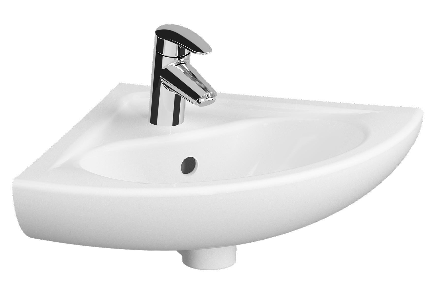 Arkitekt vasque, ovale, 1 trou central pour robinet, avec trop-plein, 52 cm