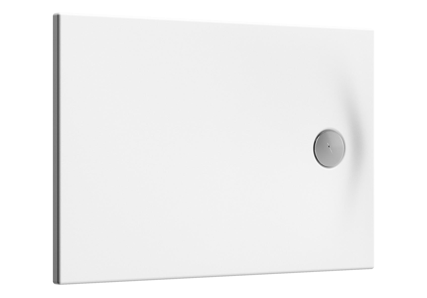 Smooth receveur ultra plat en acrylique, 3,2 mm, à encastrer ou à poser, rectangulaire, 90  x  70 cm