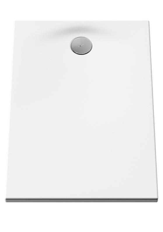 Smooth receveur ultra plat en acrylique, 3,2 mm, à encastrer ou à poser, rectangulaire, 100  x  70 cm, VitrA Antislip