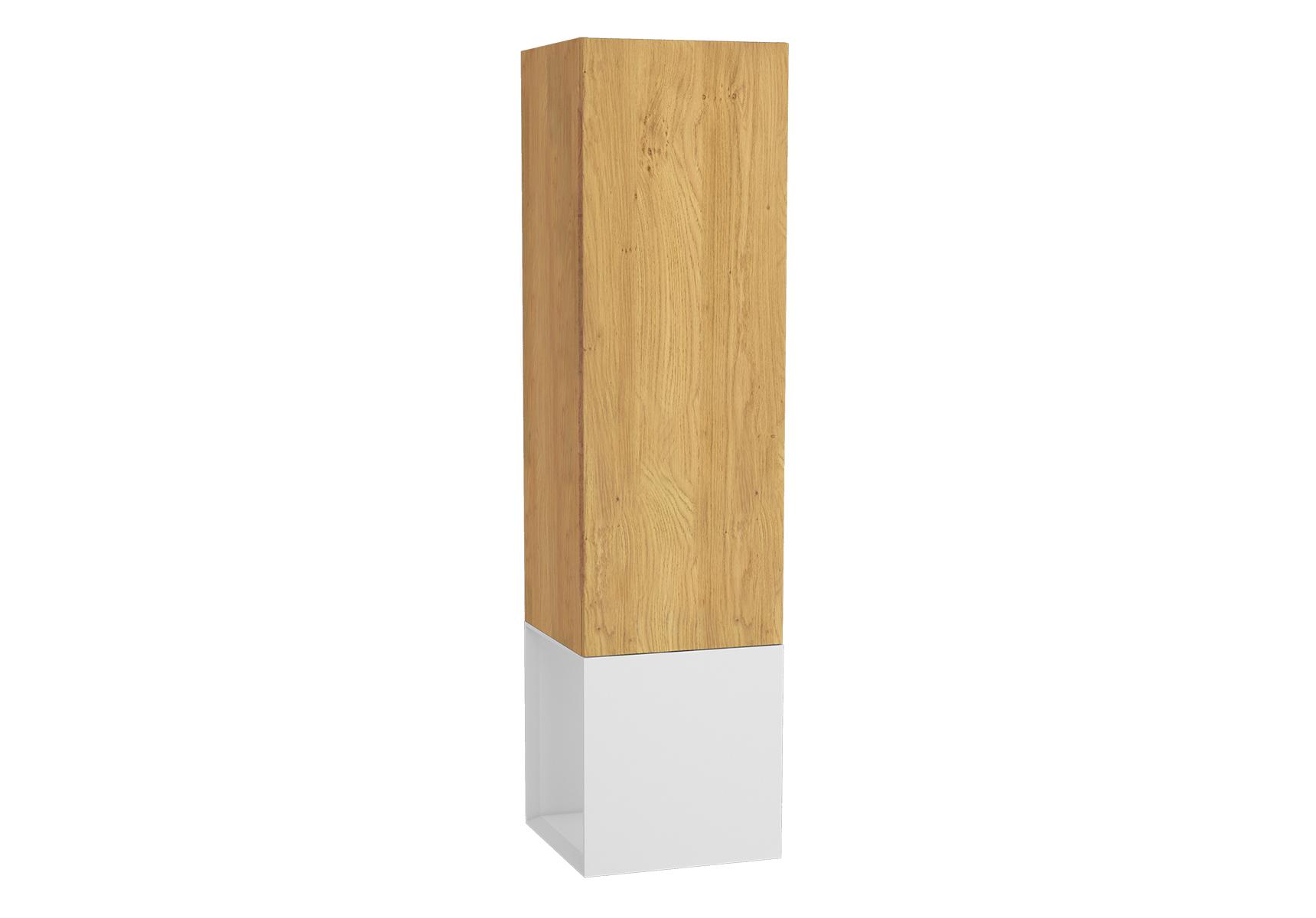 Frame armoire haute, 39 cm, chêne doré, mat blanc, gauche
