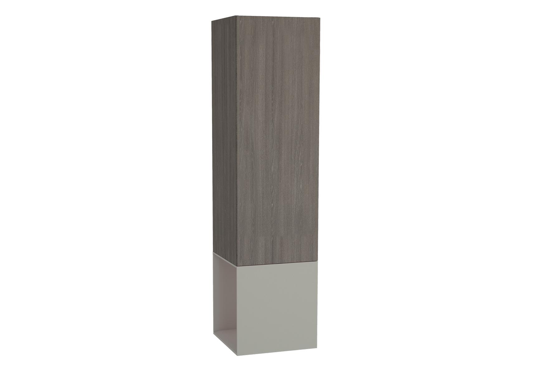 Frame armoire haute, 39 cm, chêne moka, mat taupe, gauche