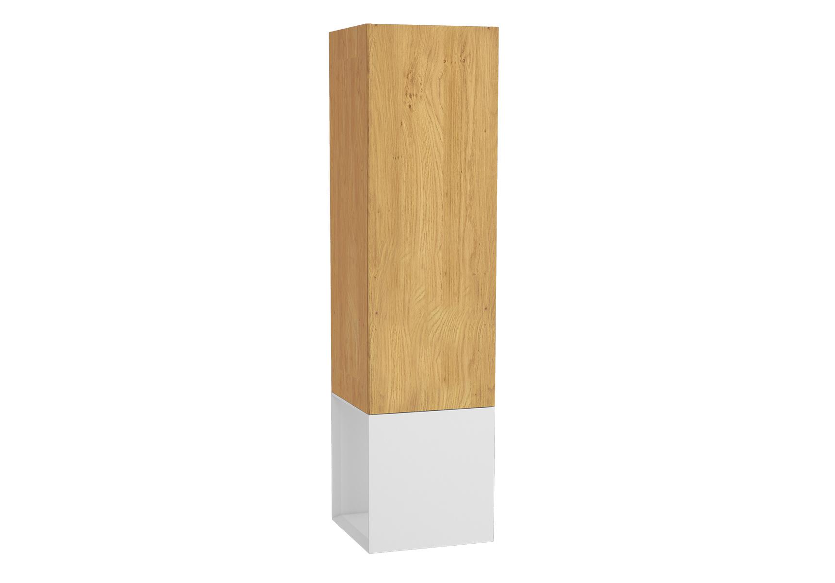 Frame armoire haute, 39 cm, chêne doré, mat blanc, droite