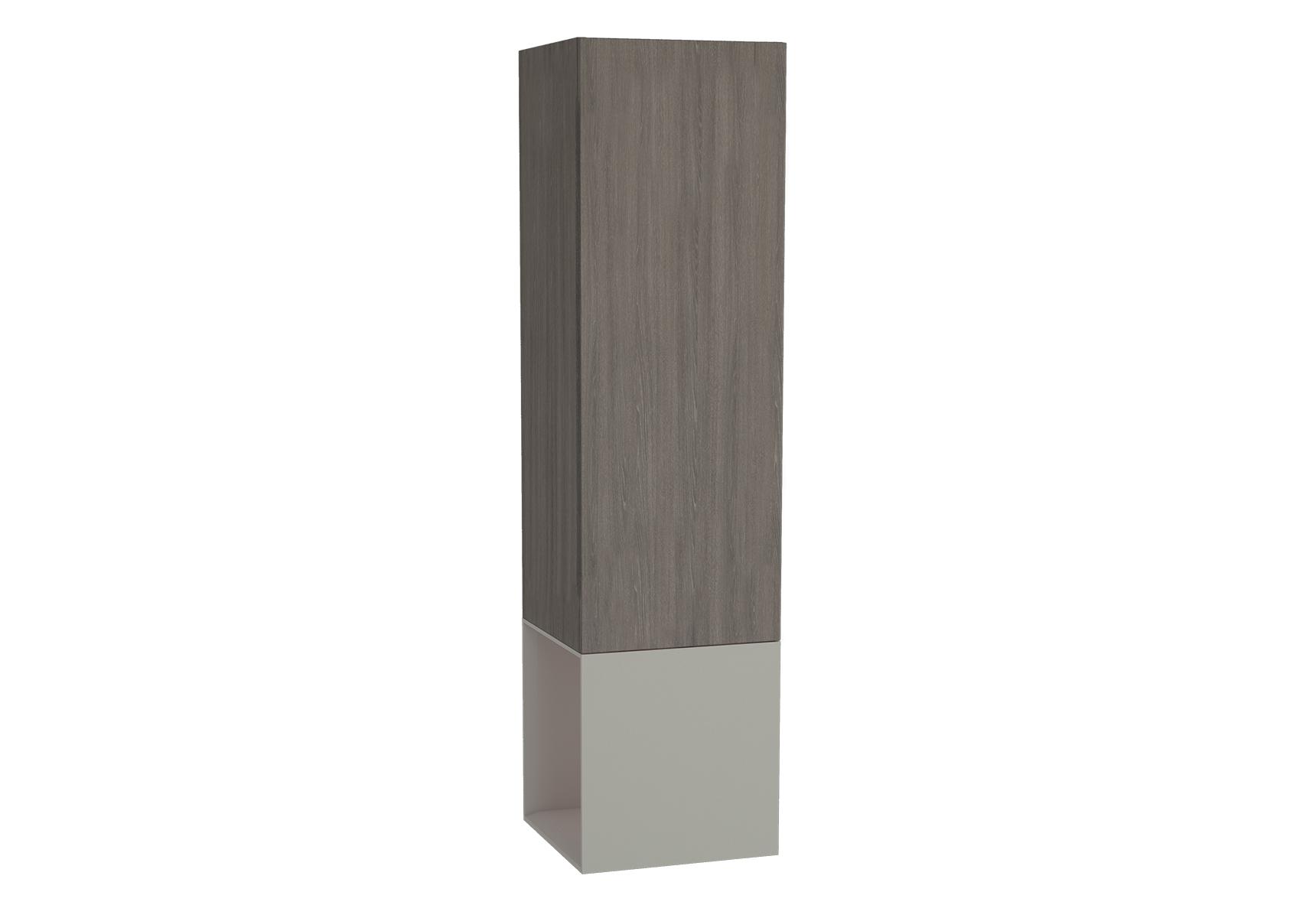Frame armoire haute, 39 cm, chêne moka, mat taupe, droite