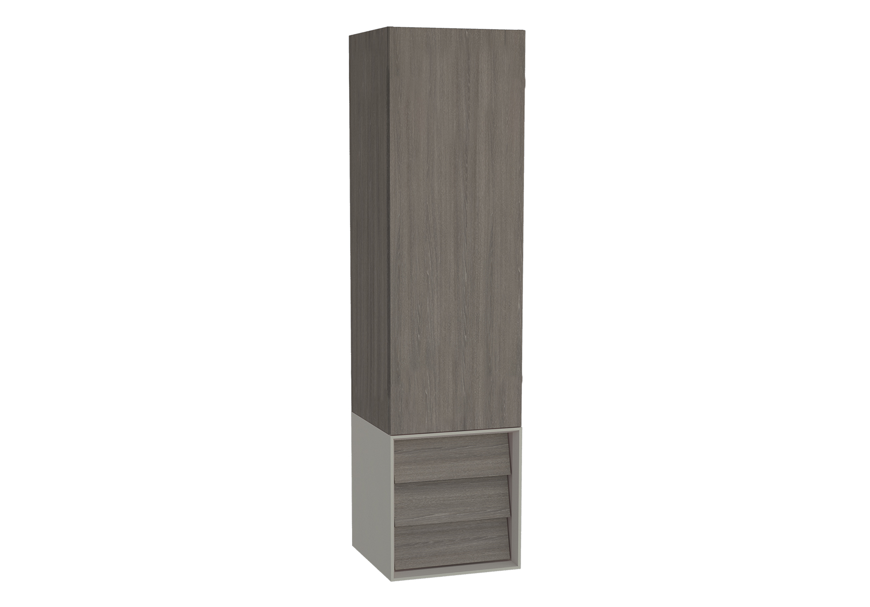 Frame armoire haute, 32 cm, chêne moka, mat taupe, gauche